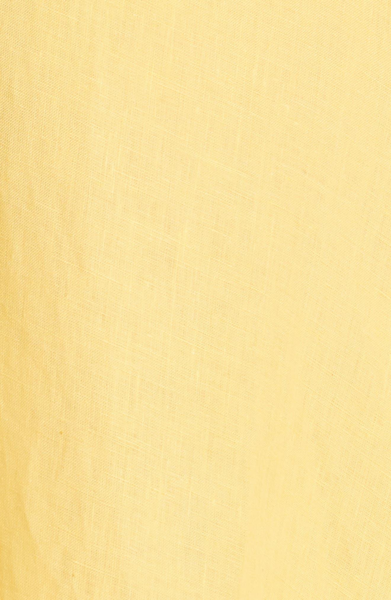 Tipple One-Shoulder Dress,                             Alternate thumbnail 5, color,                             YELLOW
