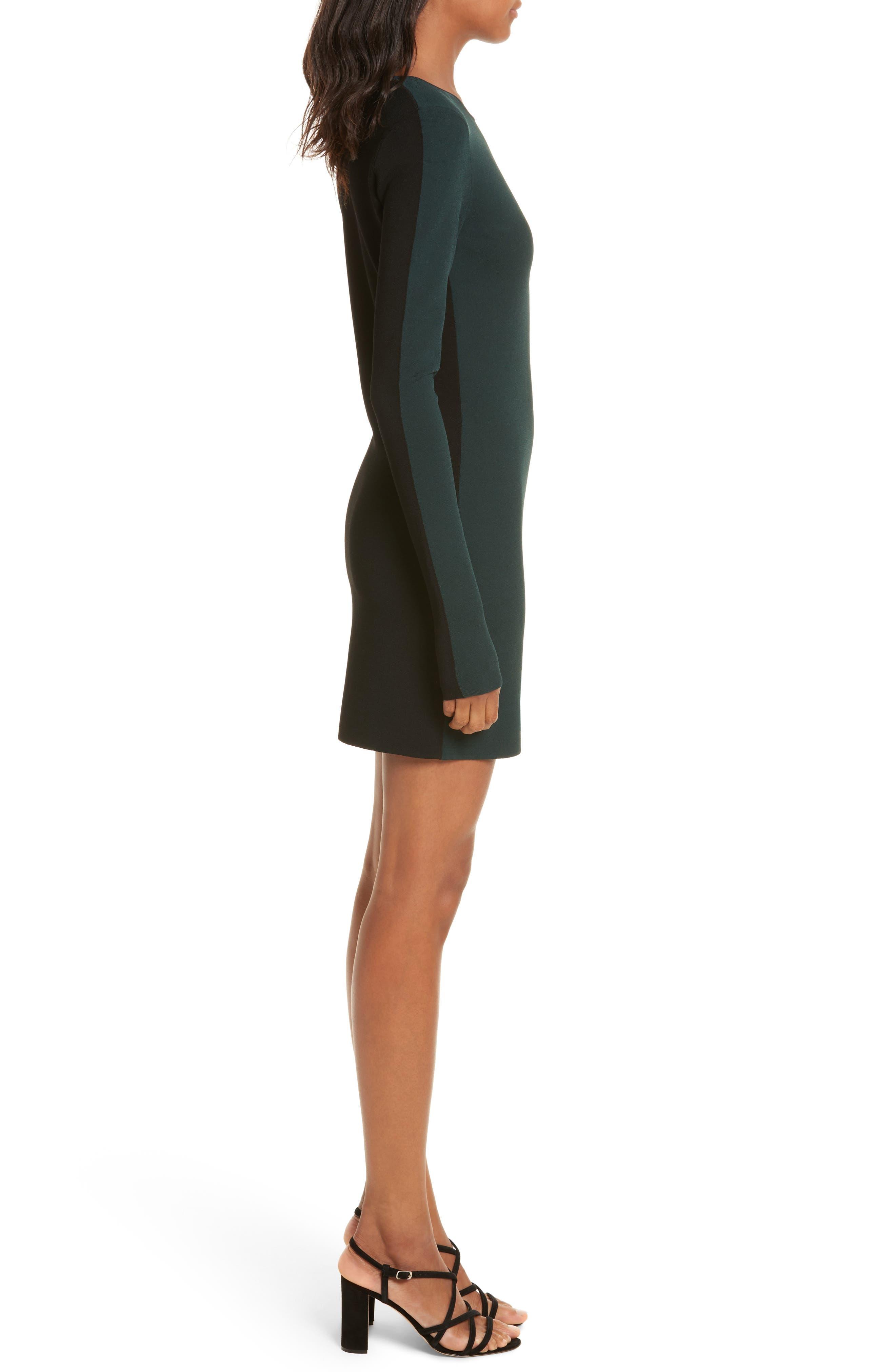 Diane von Furstenberg Long Sleeve Minidress,                             Alternate thumbnail 3, color,                             361