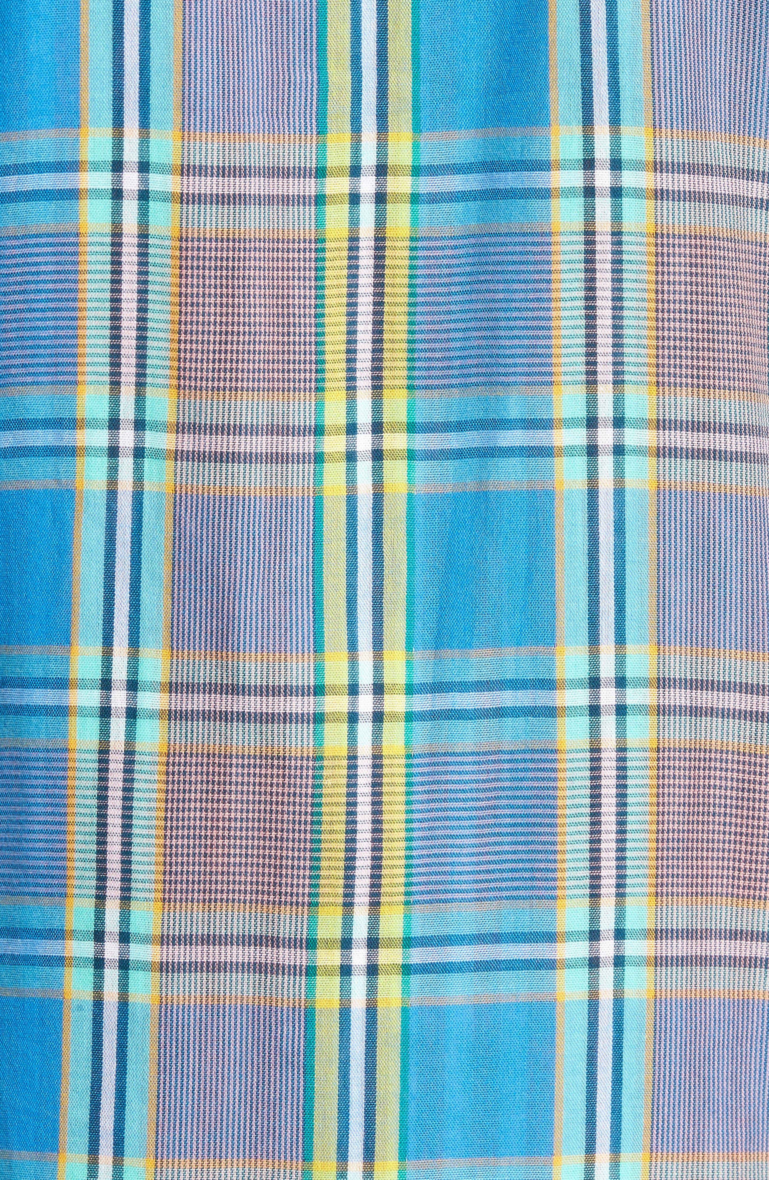 Short Sleeve Plaid Duofold Shirt,                             Alternate thumbnail 5, color,                             420