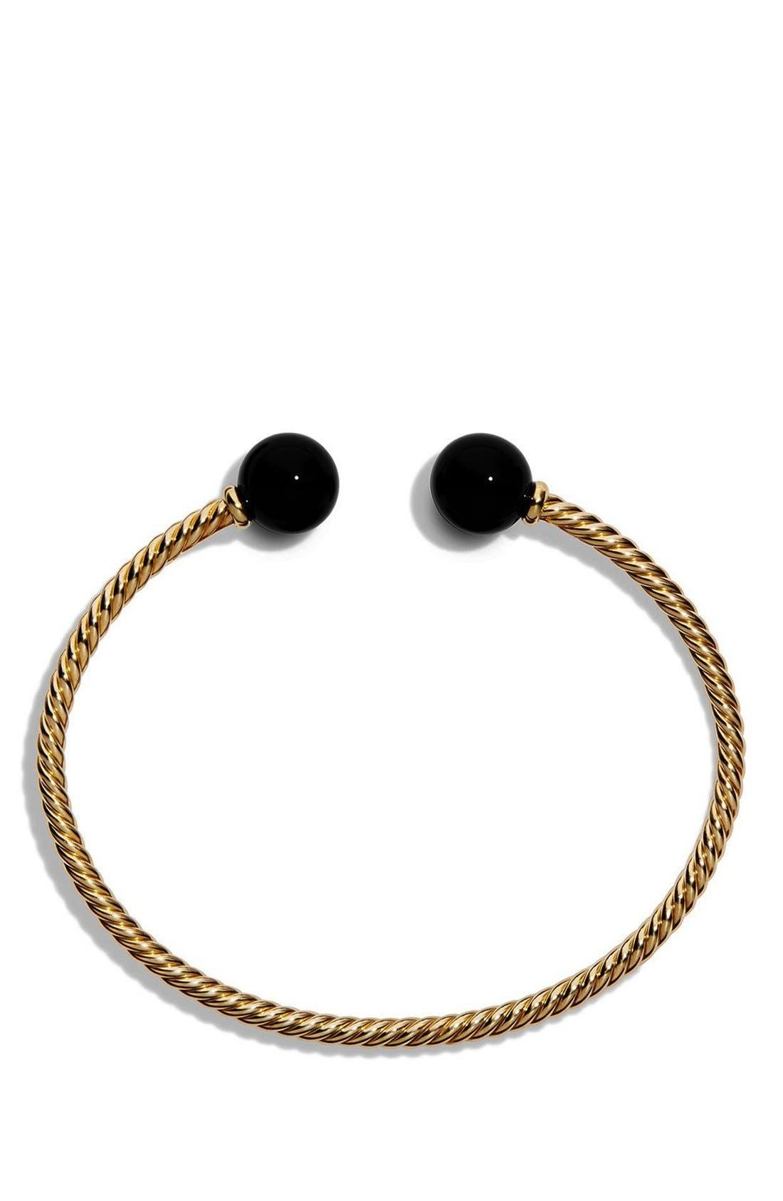 'Solari' Bead Bracelet,                             Alternate thumbnail 3, color,                             BLACK ONYX