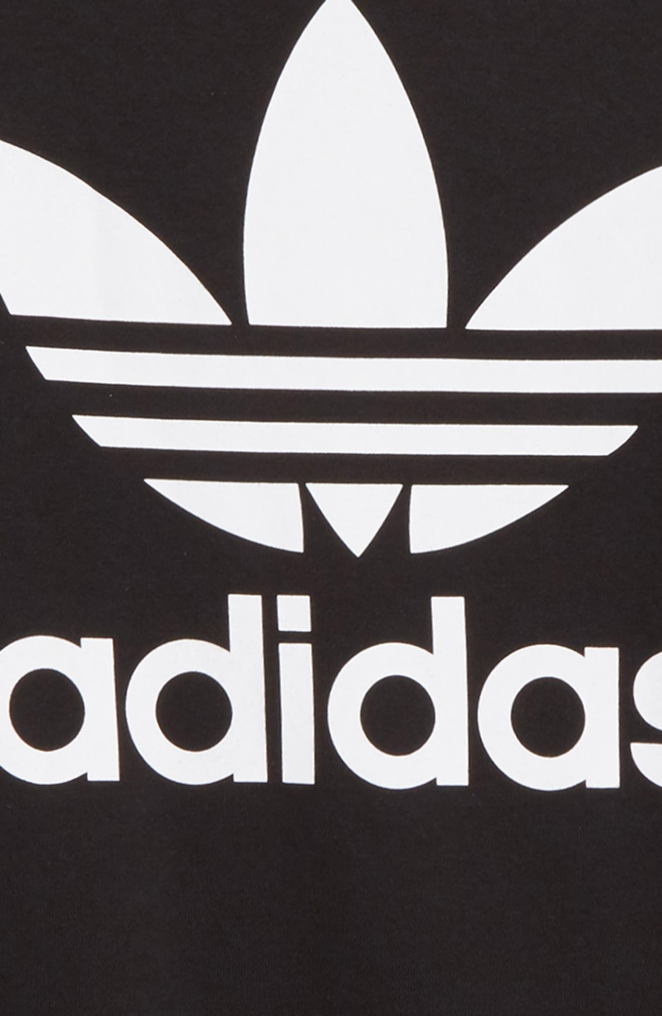 adidas Trefoil Logo Sweatshirt,                             Alternate thumbnail 2, color,                             BLACK / WHITE