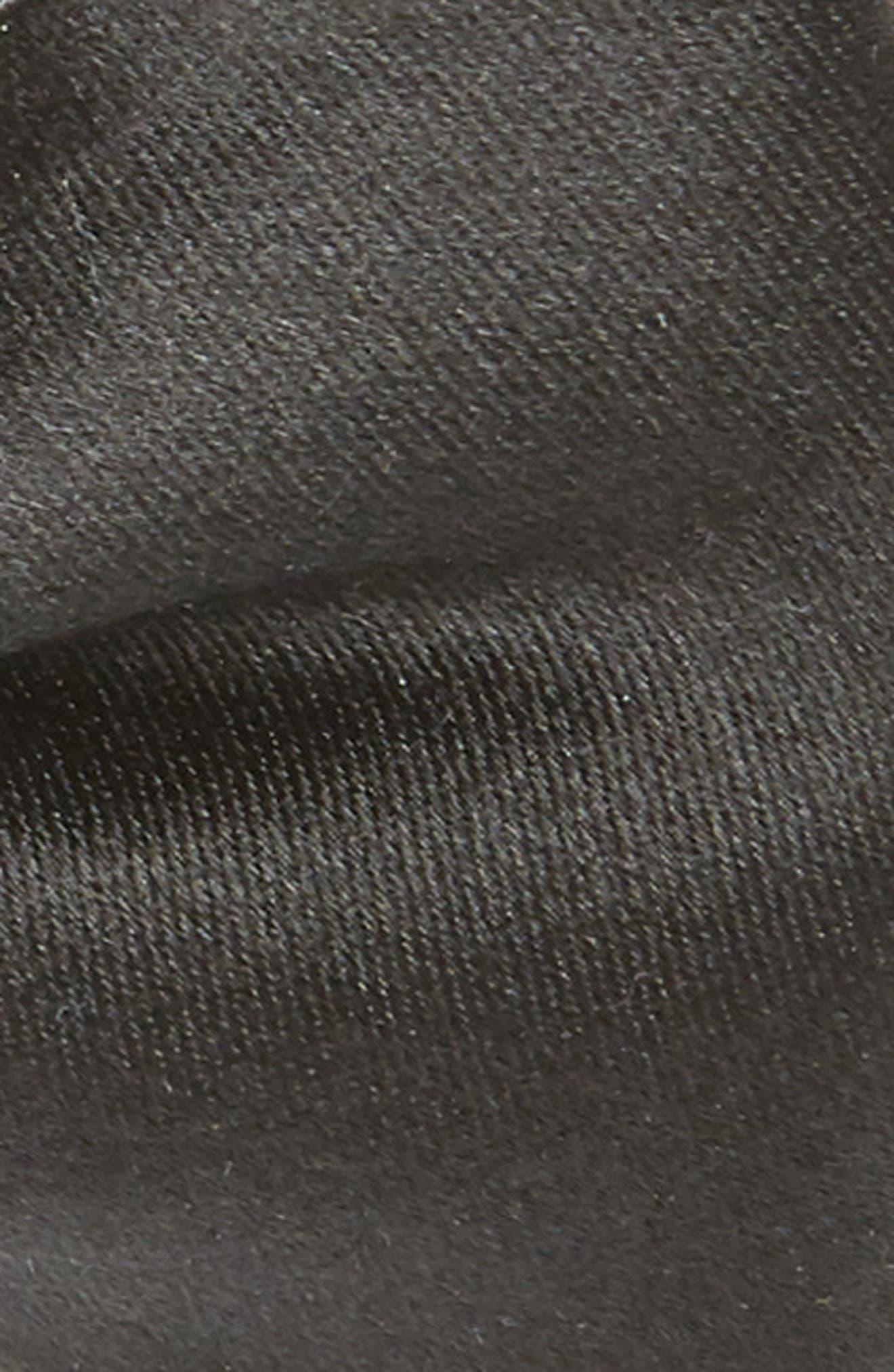 NORDSTROM MEN'S SHOP,                             Solid Silk Bow Tie,                             Alternate thumbnail 2, color,                             BLACK