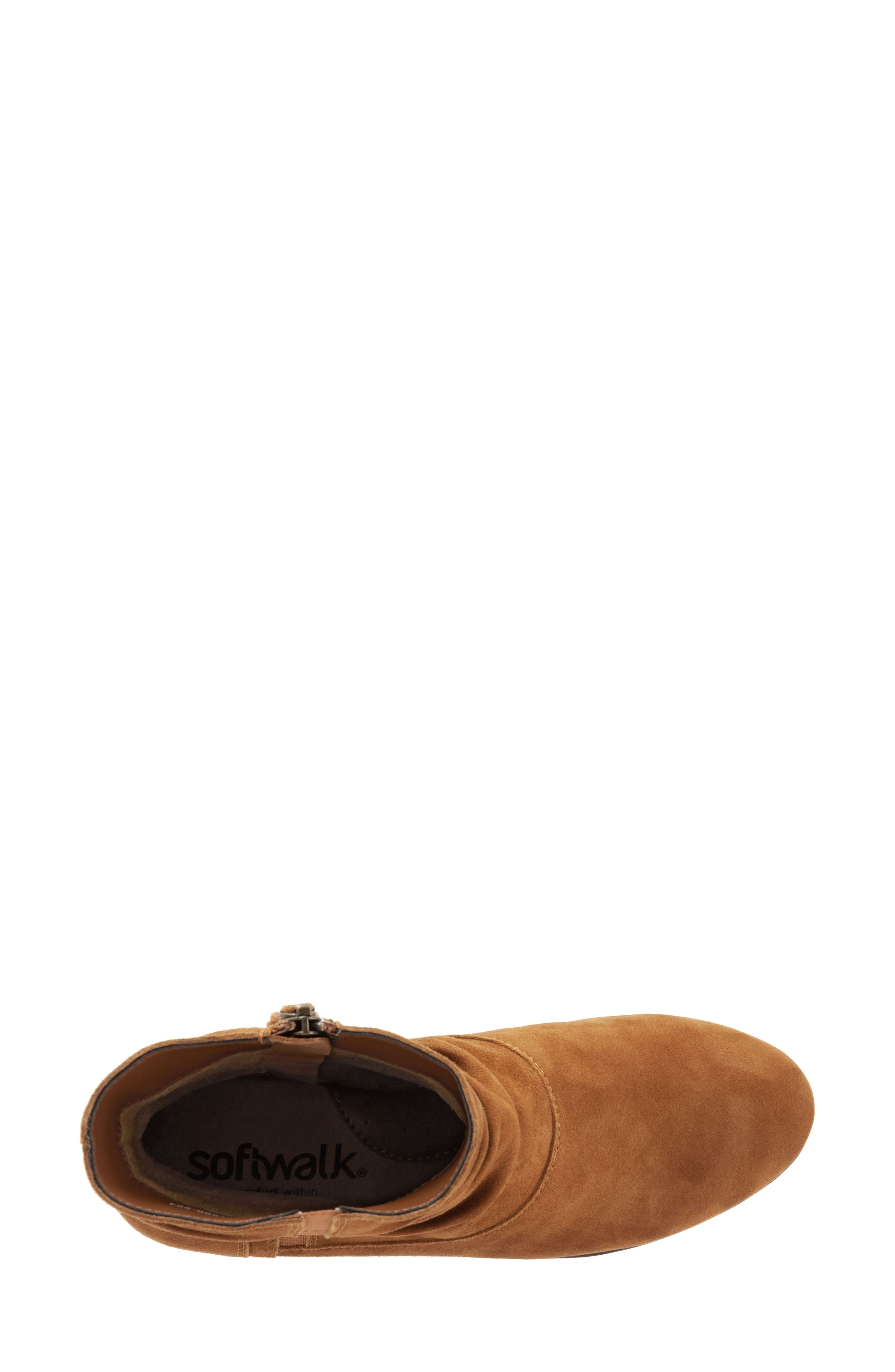 SOFTWALK<SUP>®</SUP>,                             Rochele Bootie,                             Alternate thumbnail 5, color,                             BRANDY SUEDE