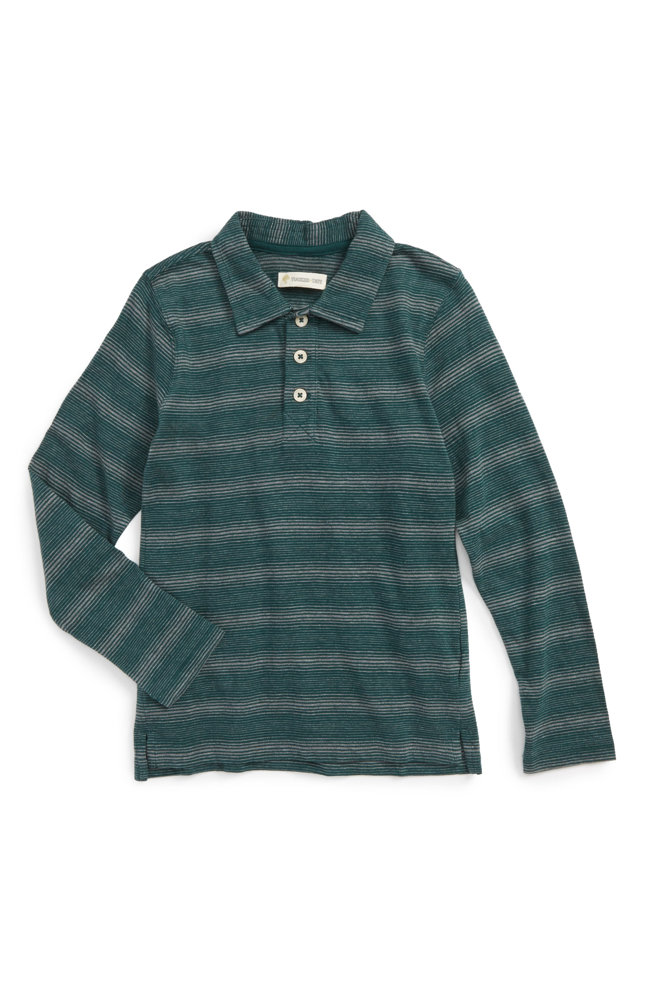 Long Sleeve Polo,                             Main thumbnail 1, color,                             301