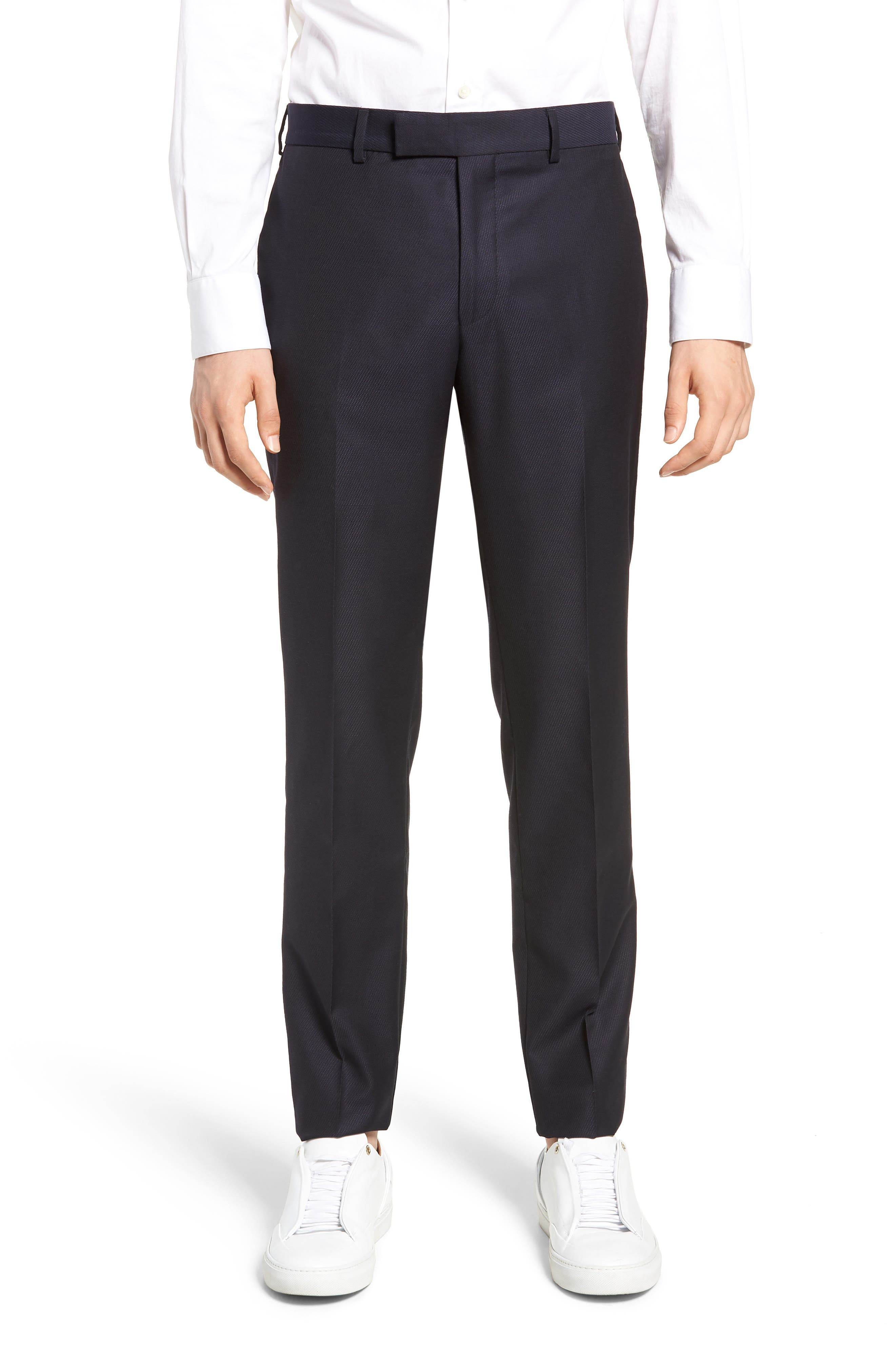 Slim Fit Suit Trousers,                         Main,                         color, NAVY