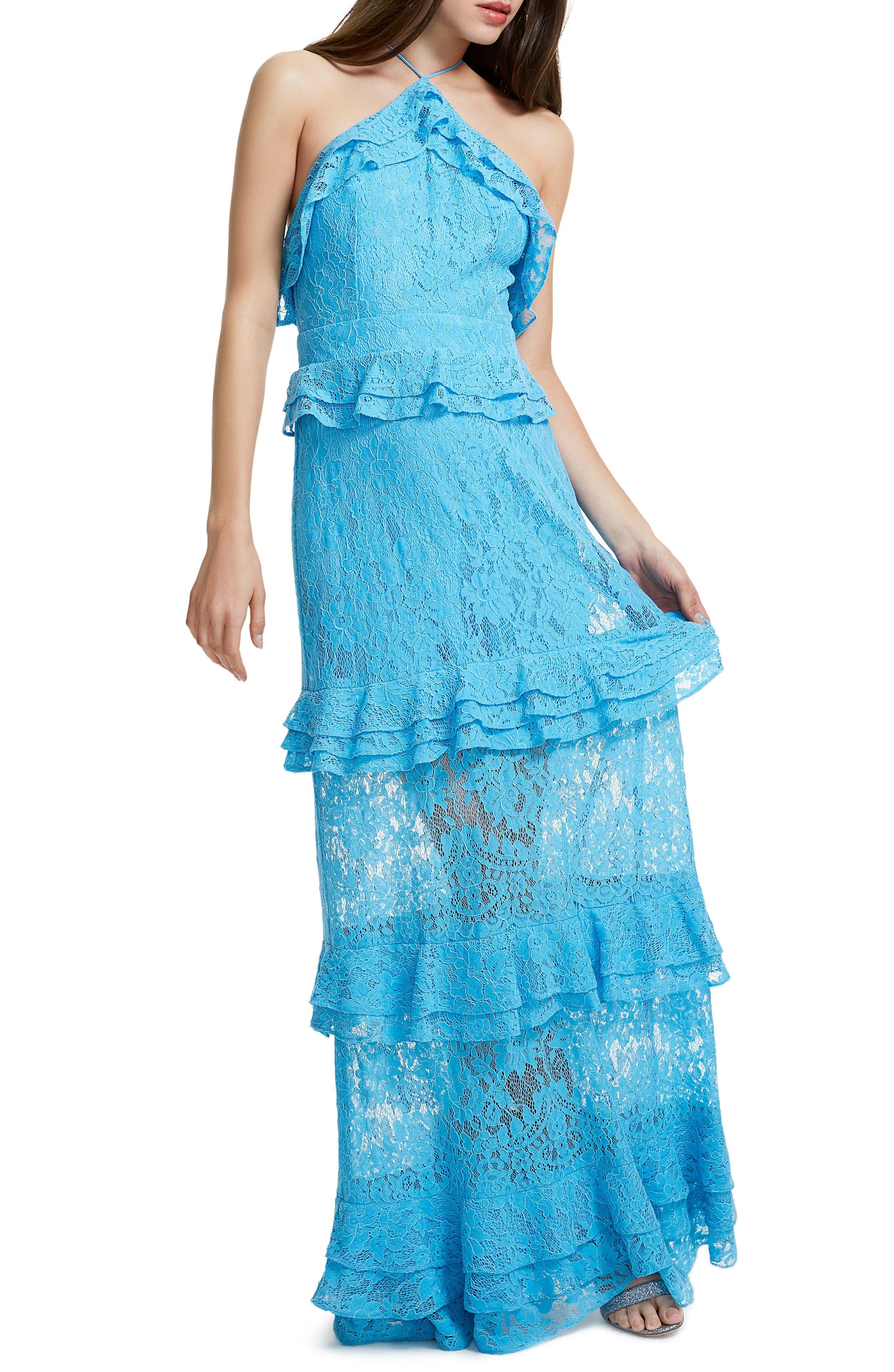 Violet Ruffle Maxi Dress,                             Alternate thumbnail 4, color,
