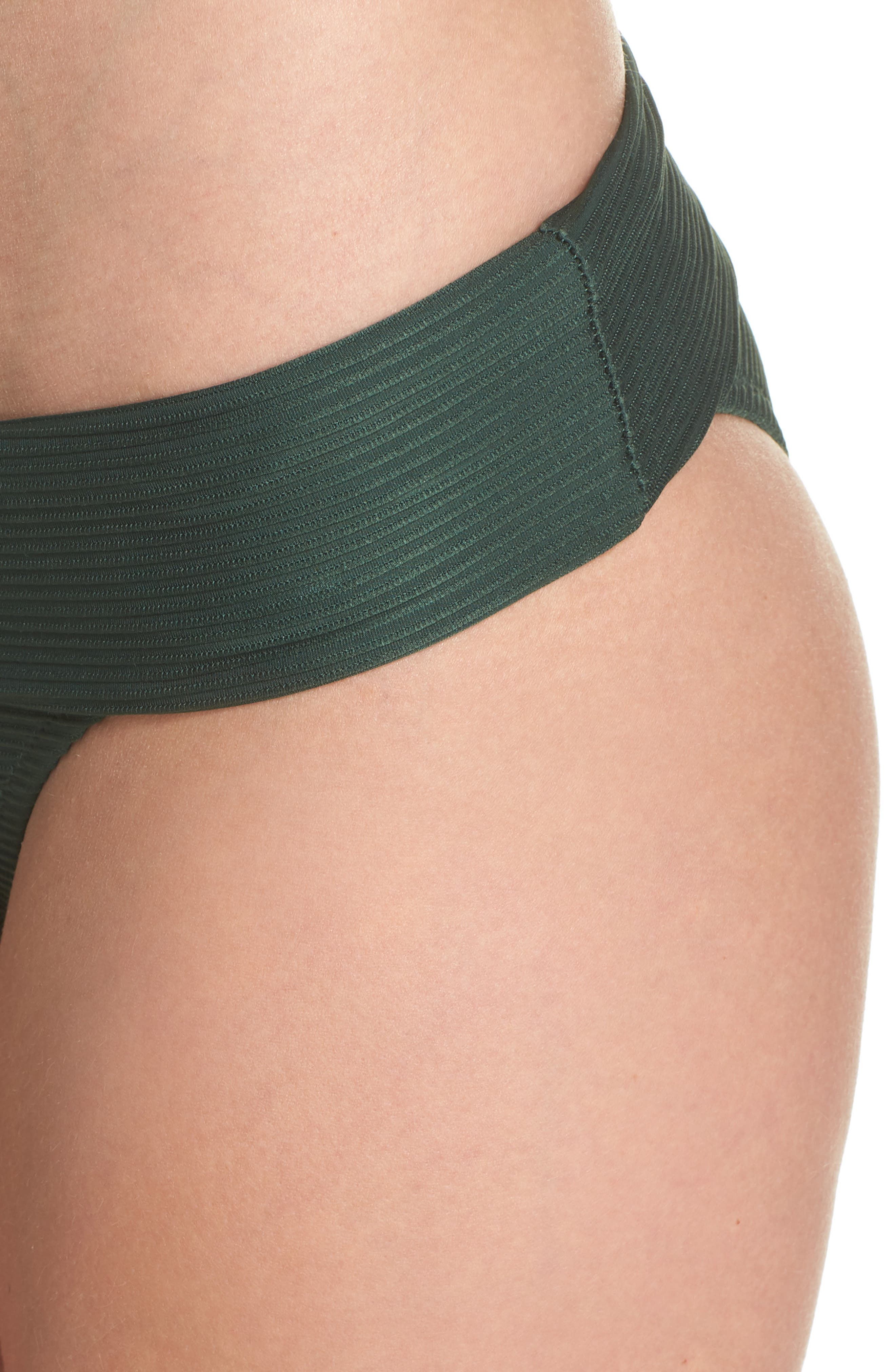 Foldover Bikini Bottoms,                             Alternate thumbnail 4, color,                             GREEN