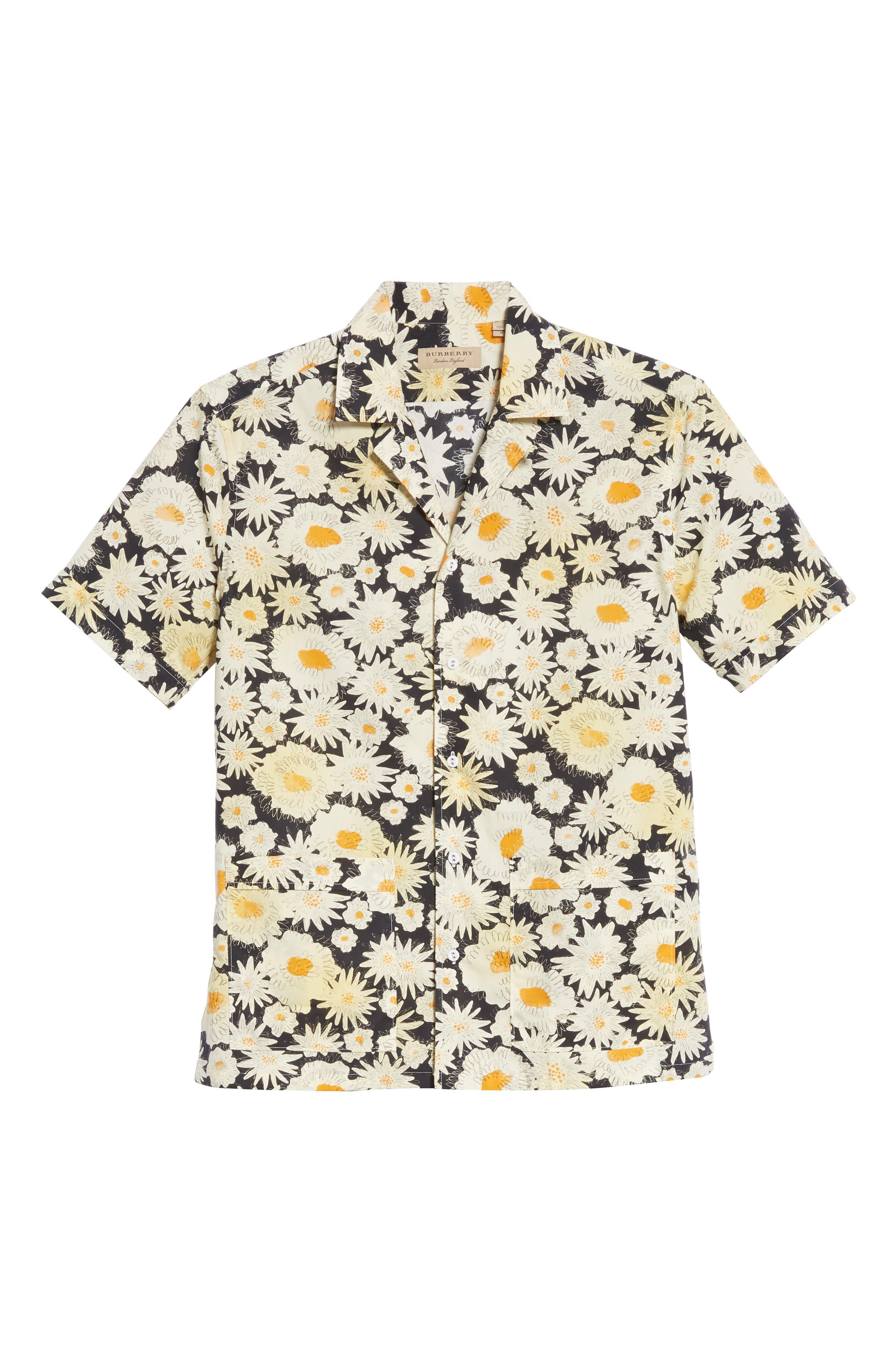 Jude Floral Print Shirt,                             Alternate thumbnail 6, color,                             001