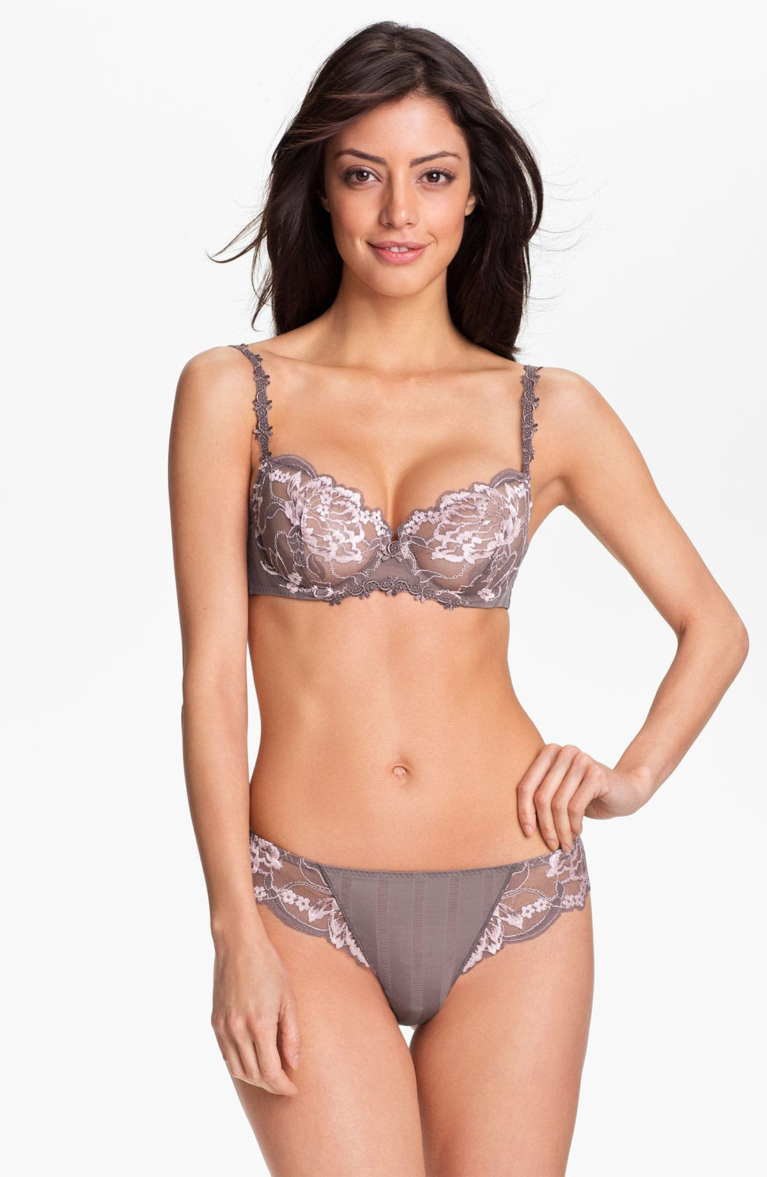 'Amour' Underwire Demi Bra,                             Alternate thumbnail 37, color,
