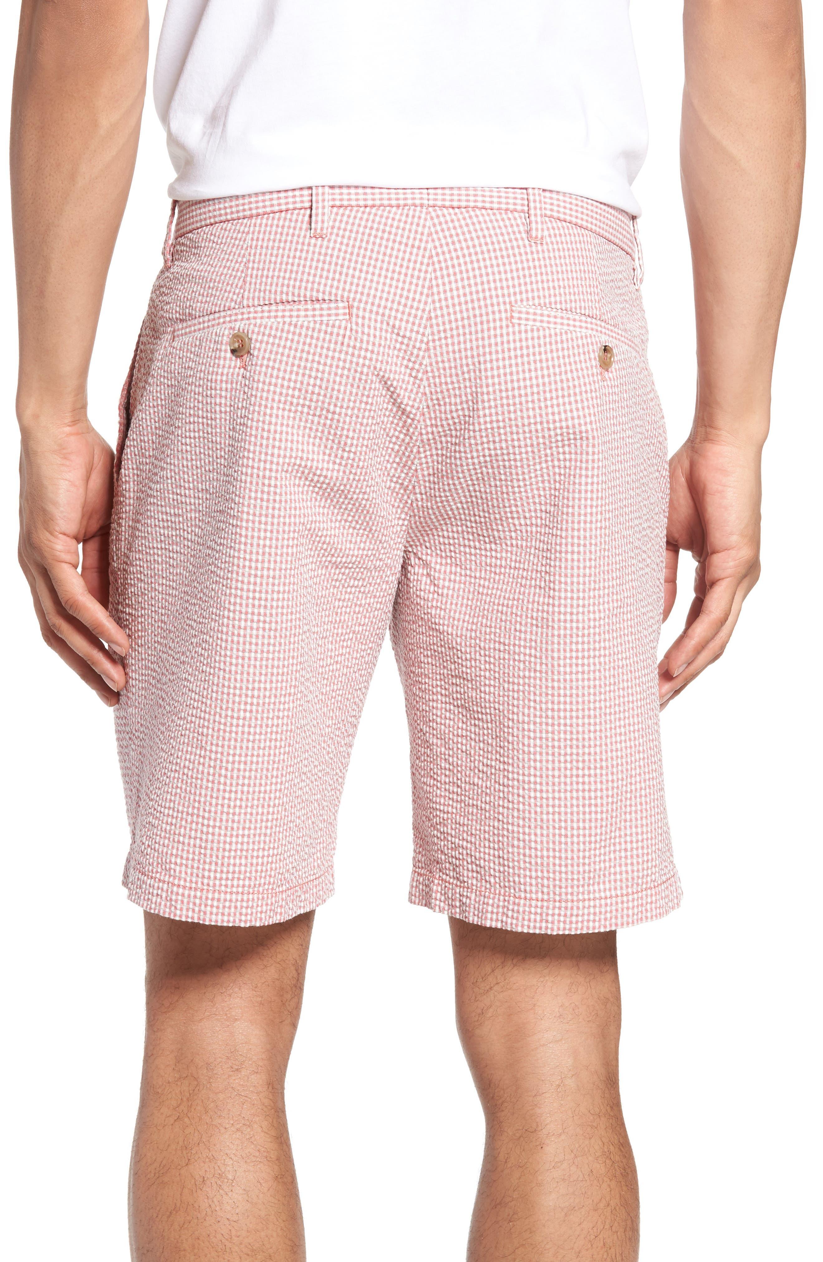 Fringe Check Seersucker Shorts,                             Alternate thumbnail 4, color,