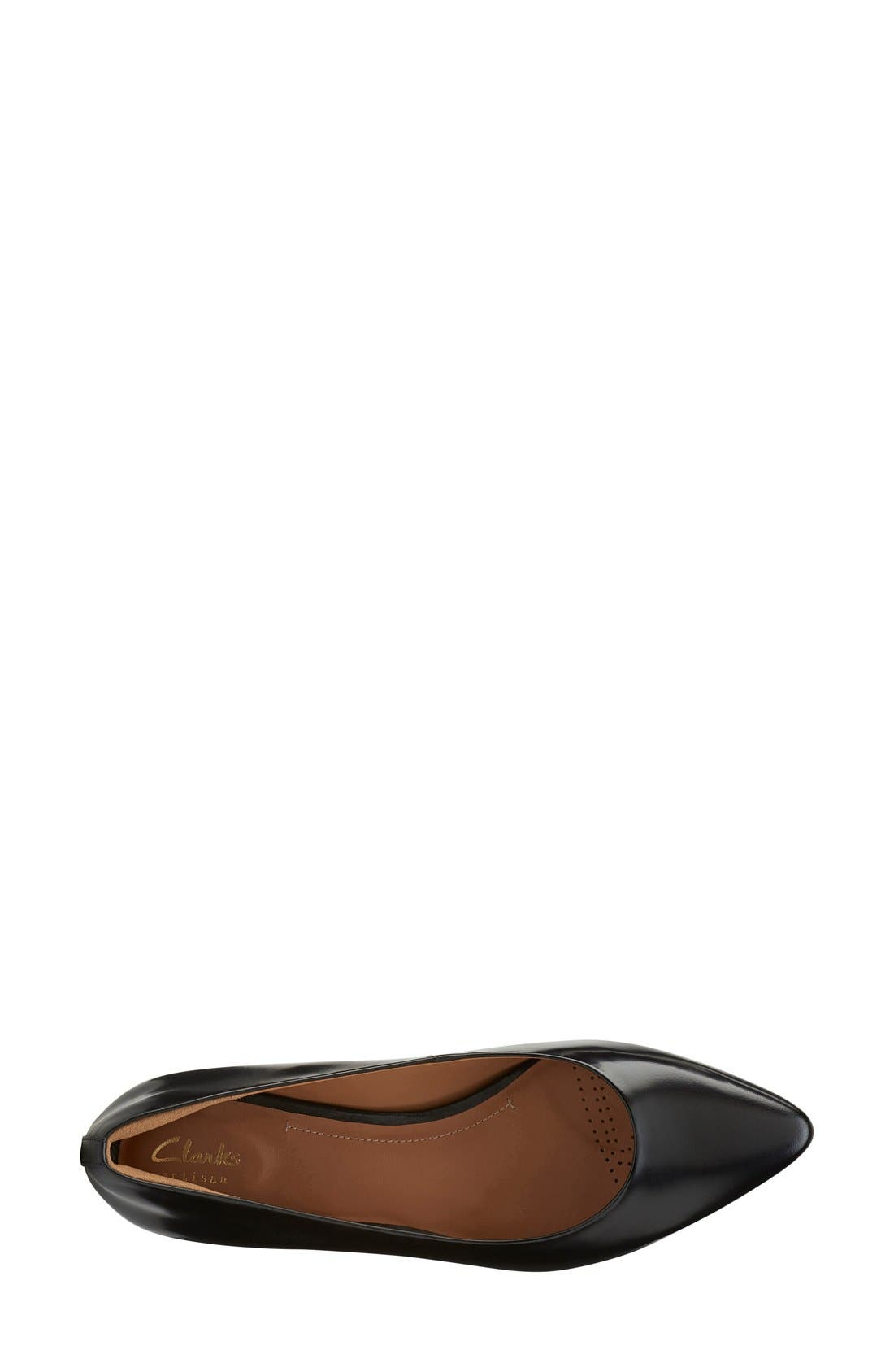 CLARKS<SUP>®</SUP>,                             'Corabeth Abby' Pointy Toe Flat,                             Alternate thumbnail 3, color,                             003