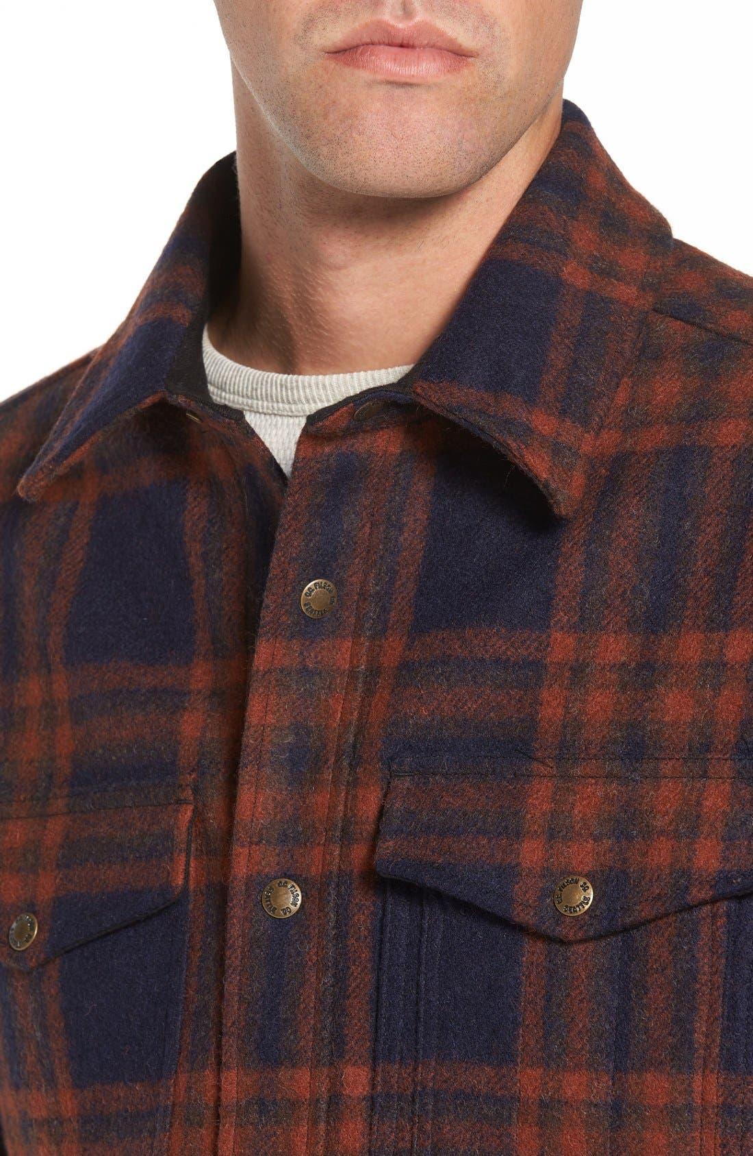 'Macinaw' Plaid Wool Flannel Shirt Jacket,                             Alternate thumbnail 8, color,