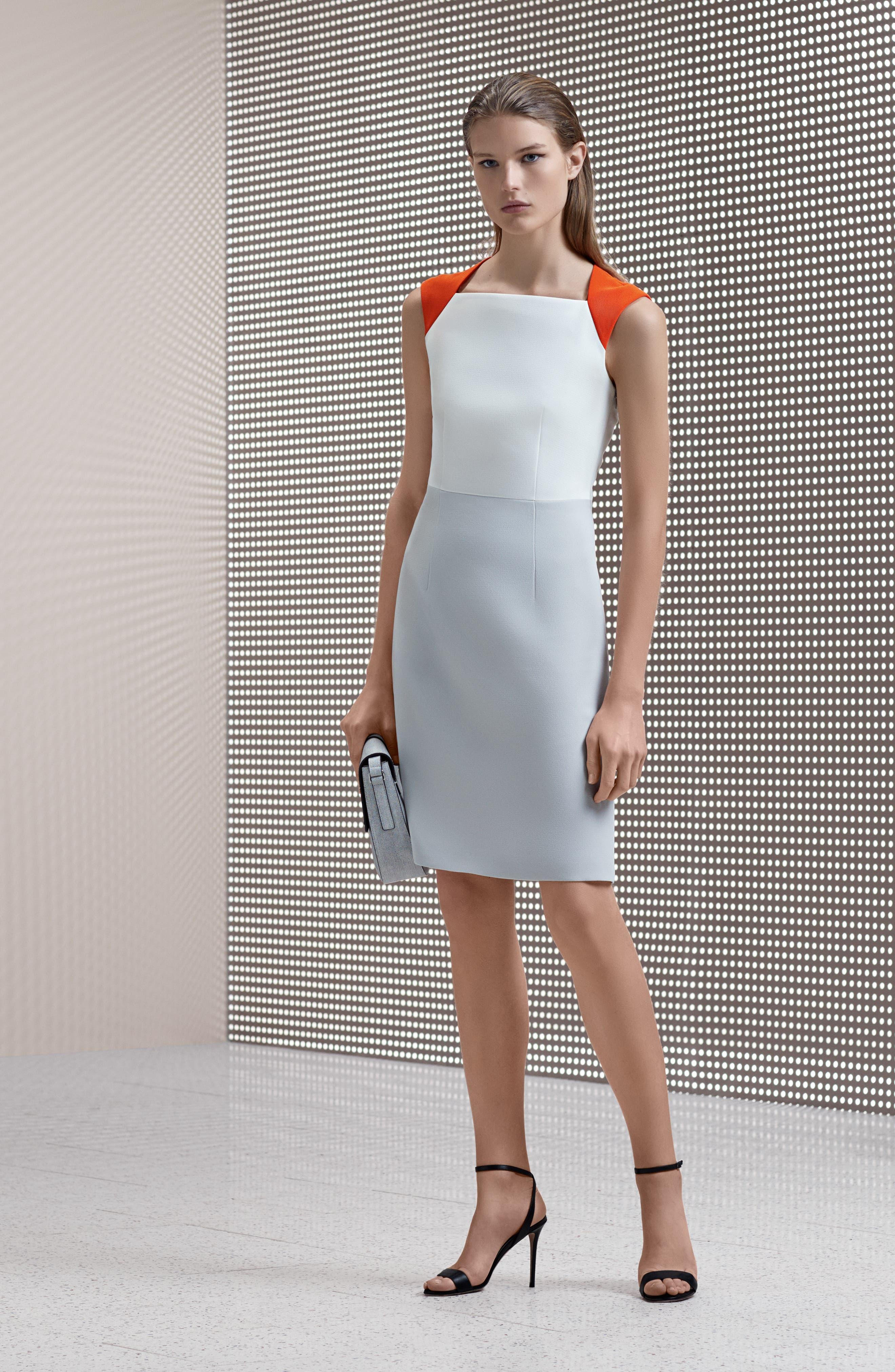 Dekala Colorblock Sheath Dress,                             Alternate thumbnail 8, color,                             021