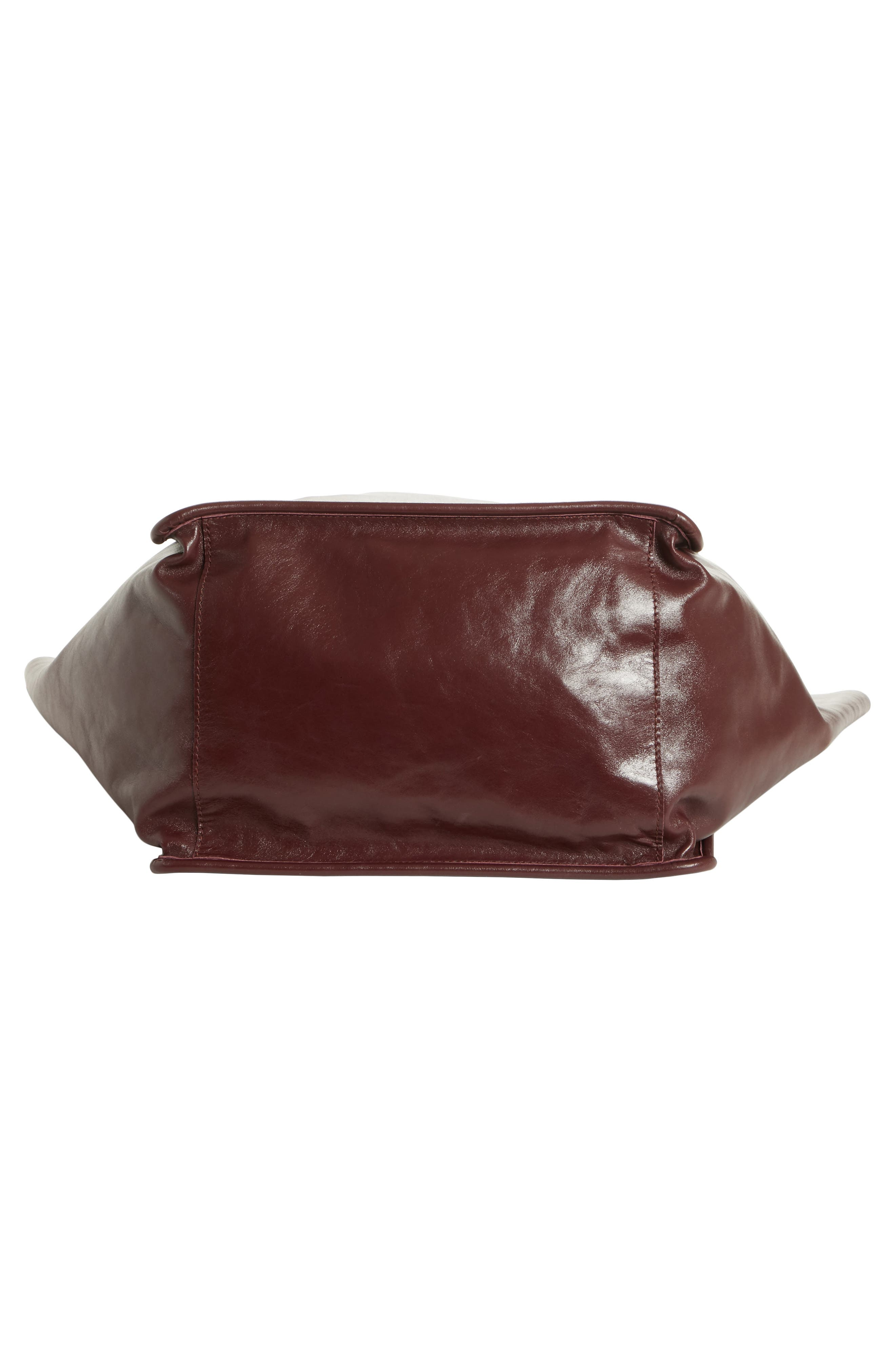 Extra Large Leather Tote,                             Alternate thumbnail 5, color,                             CORDOVAN