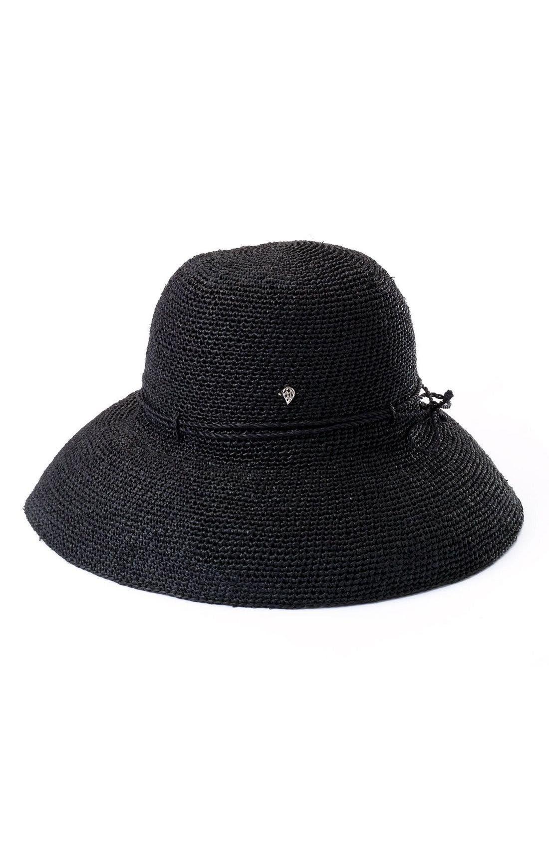'Provence 12' Packable Raffia Hat,                             Main thumbnail 15, color,