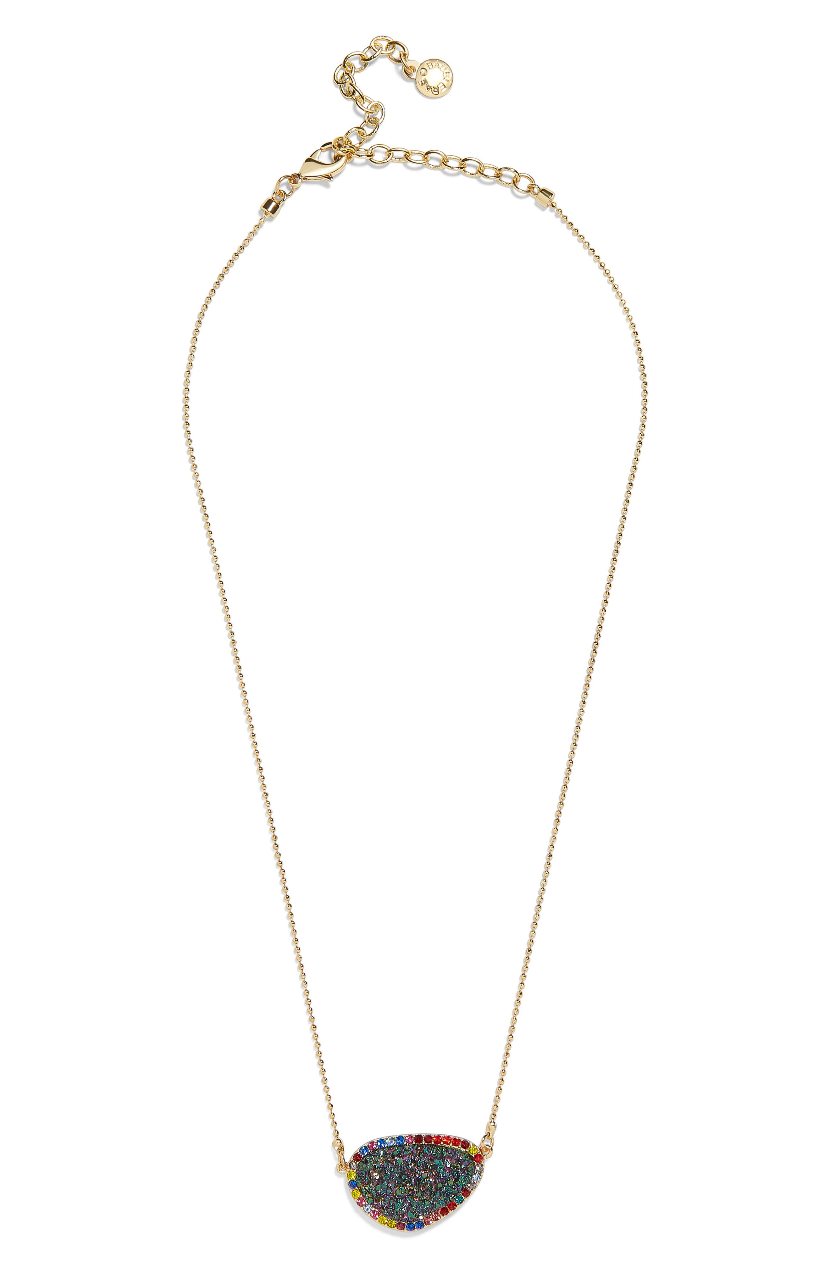 BAUBLEBAR Kerisa Drusy Pendant Necklace, Main, color, 440