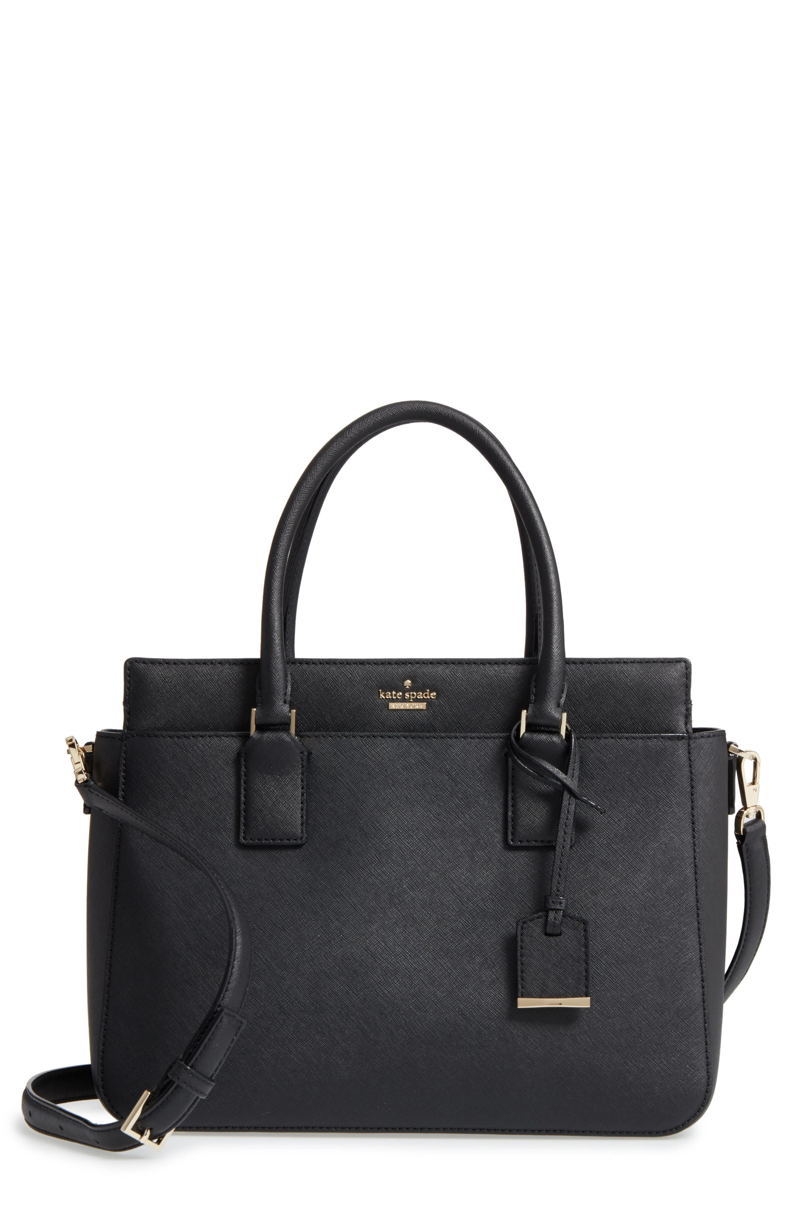 cameron street - sally leather satchel,                         Main,                         color, 001