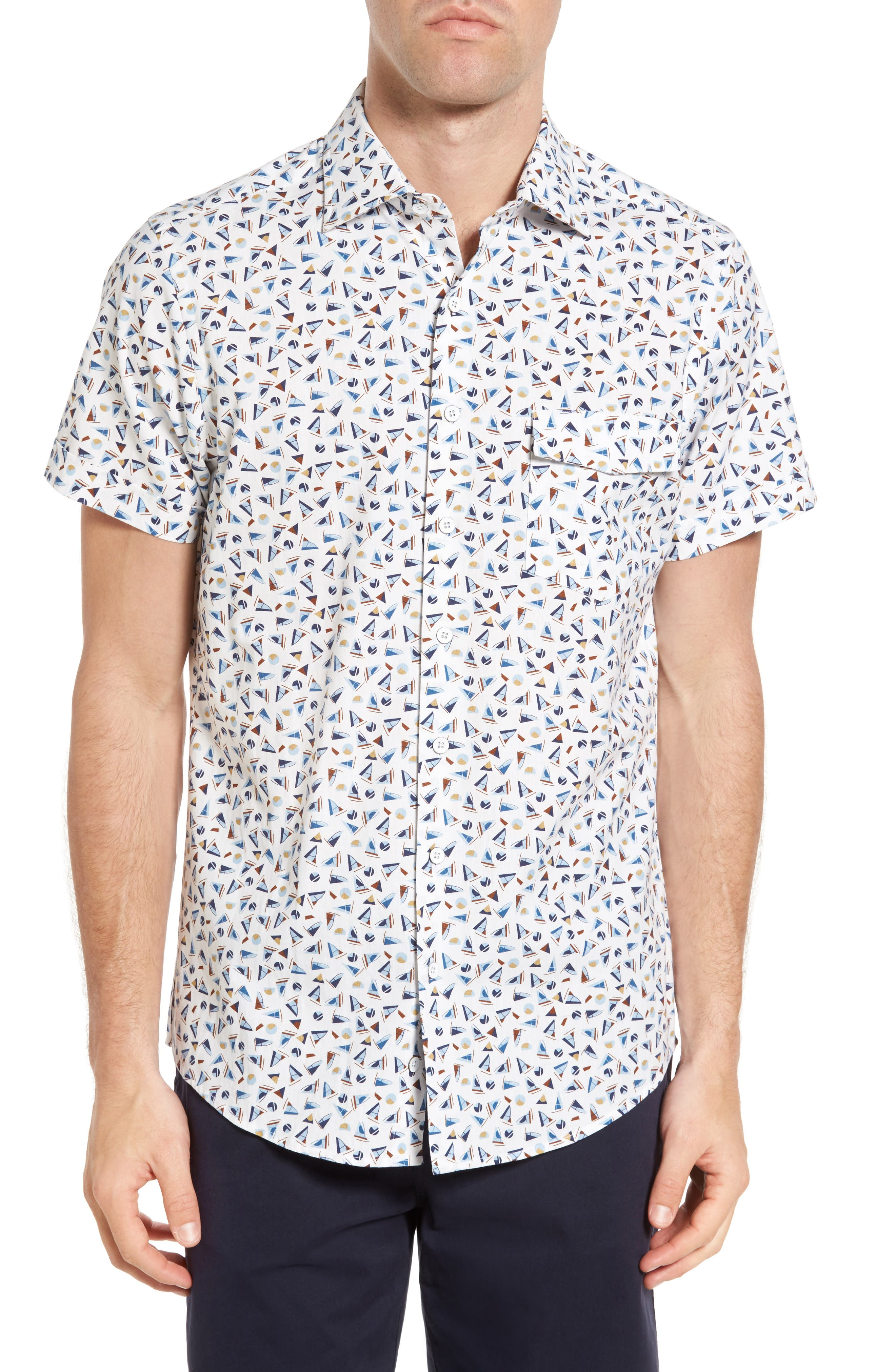Coal Island Original Fit Print Sport Shirt,                         Main,                         color,