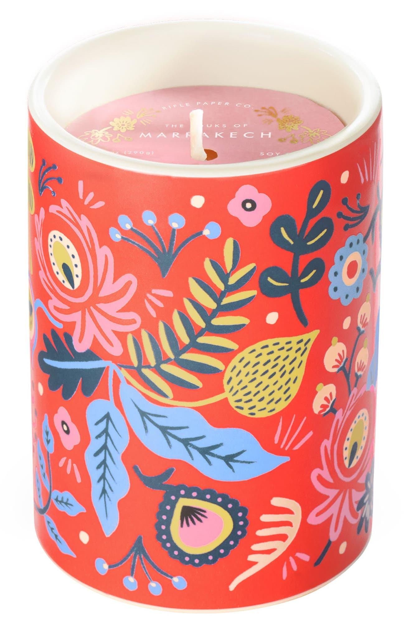 Scented Ceramic Jar Candle,                             Main thumbnail 4, color,