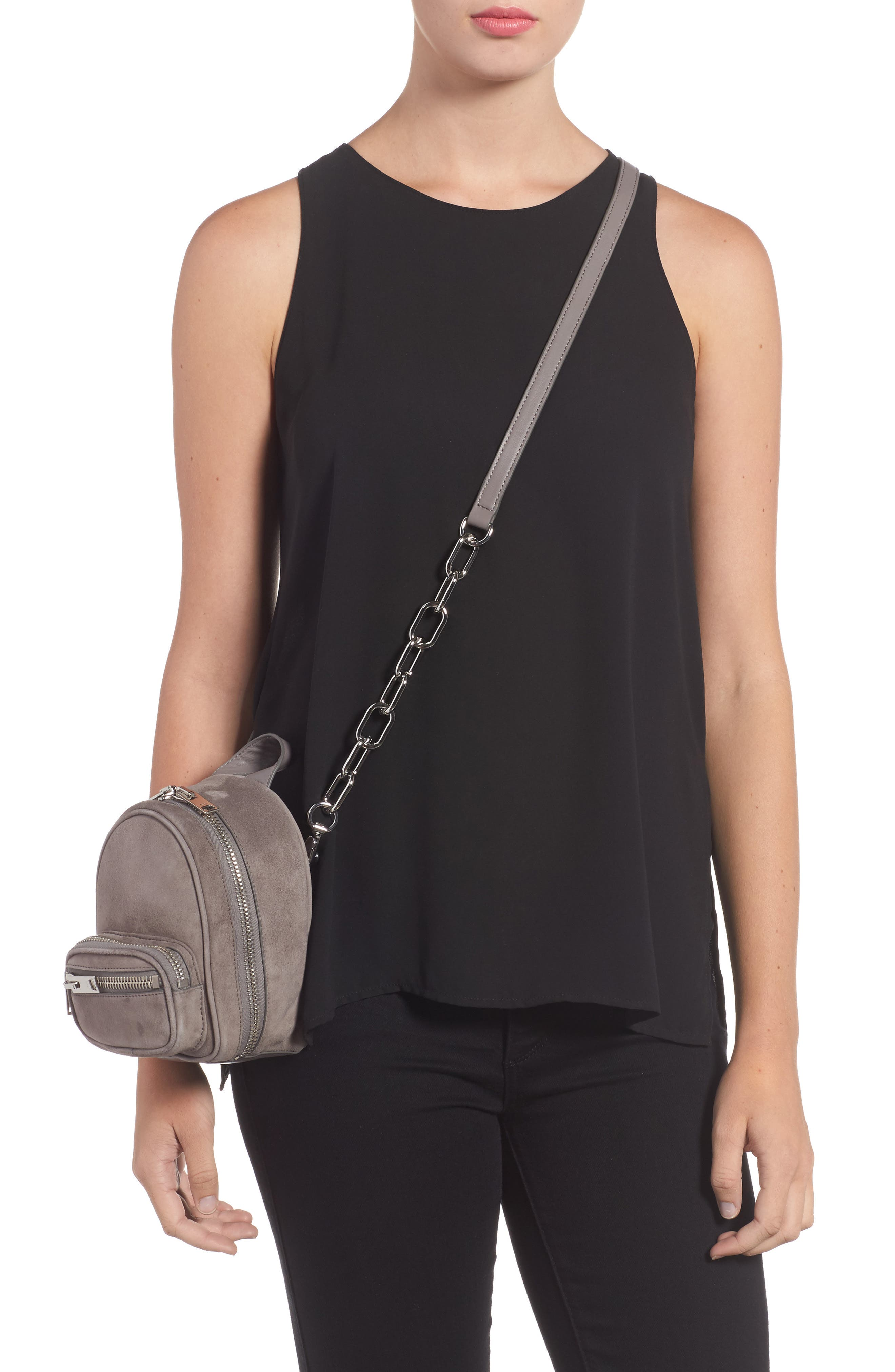 Mini Attica Leather Crossbody Backpack,                             Alternate thumbnail 2, color,                             080