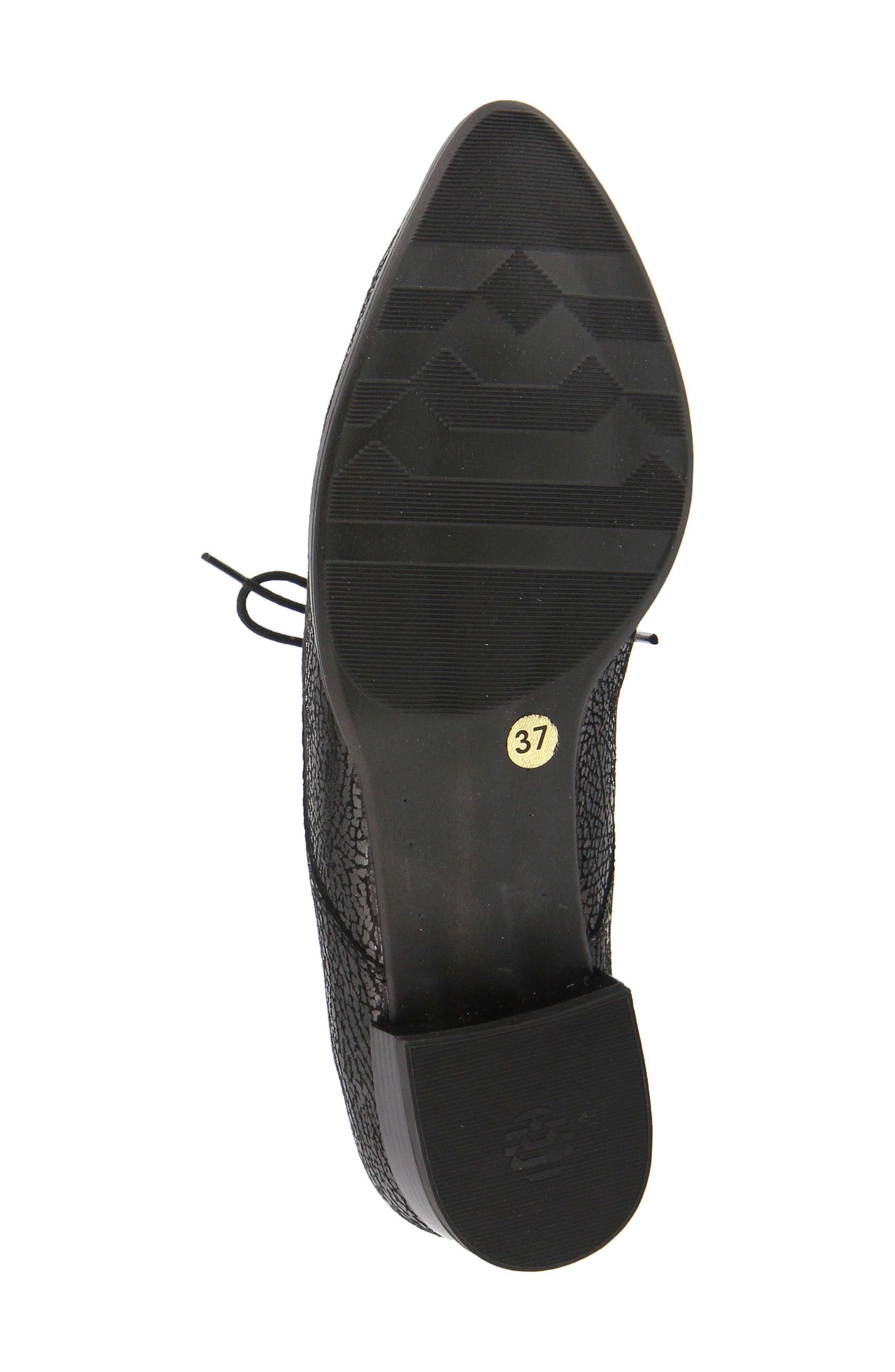 Conchetta Lace-Up Derby,                             Alternate thumbnail 5, color,                             BLACK LEATHER