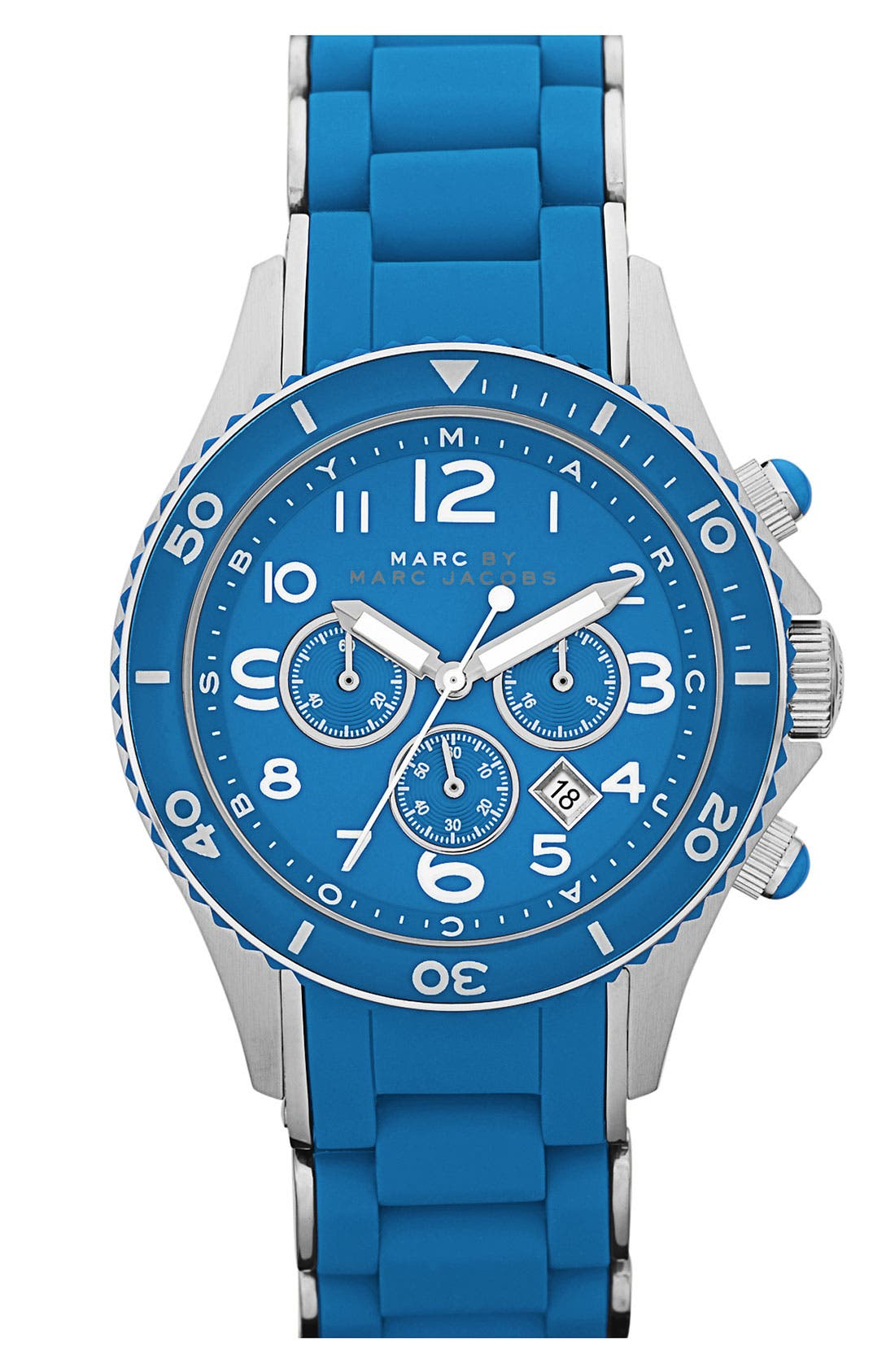 'Rock' Chronograph Silicone Bracelet Watch, 40mm,                             Main thumbnail 12, color,