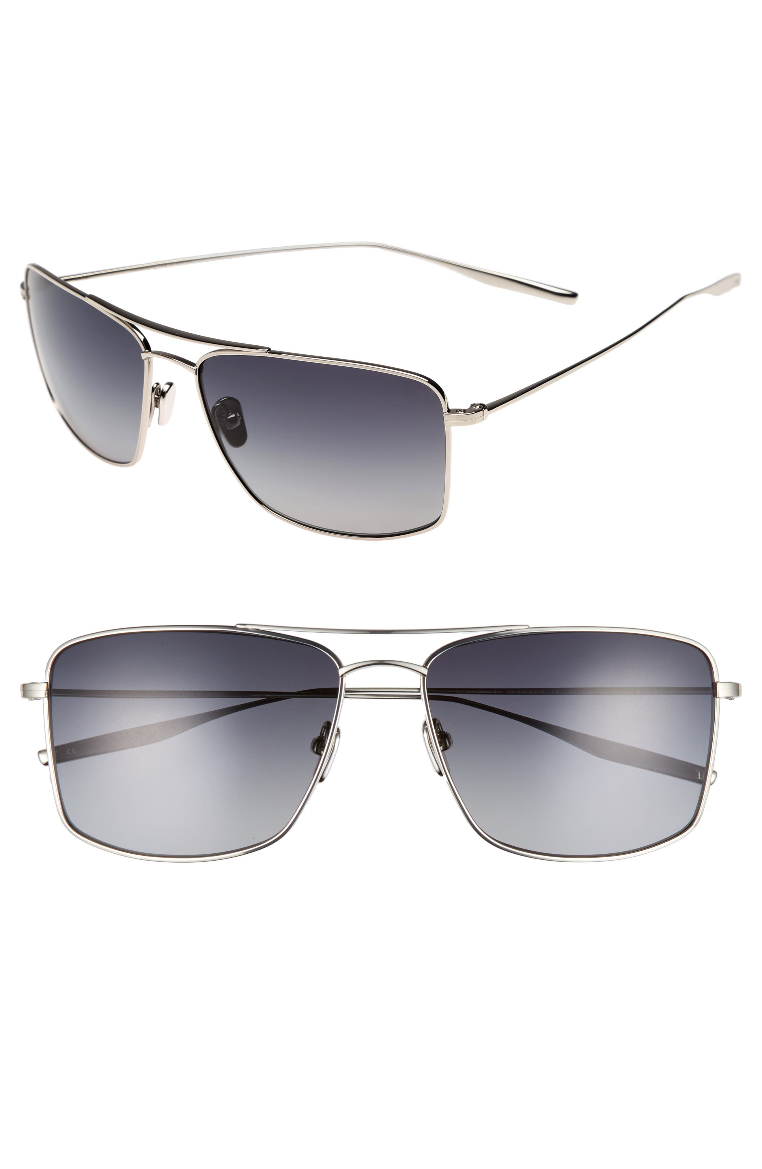Hesseman 59mm Polarized Sunglasses,                         Main,                         color, TRADITIONAL SILVER