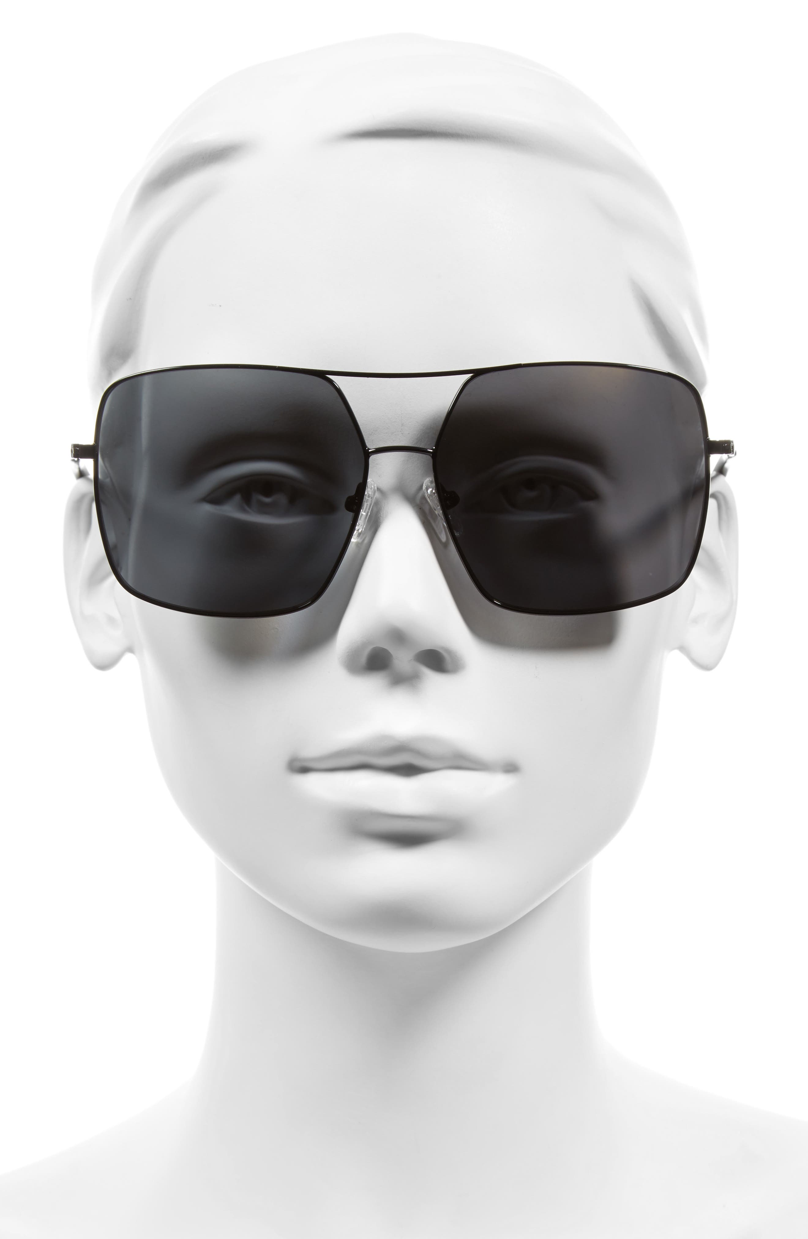 65mm Navigator Sunglasses,                             Alternate thumbnail 2, color,                             001
