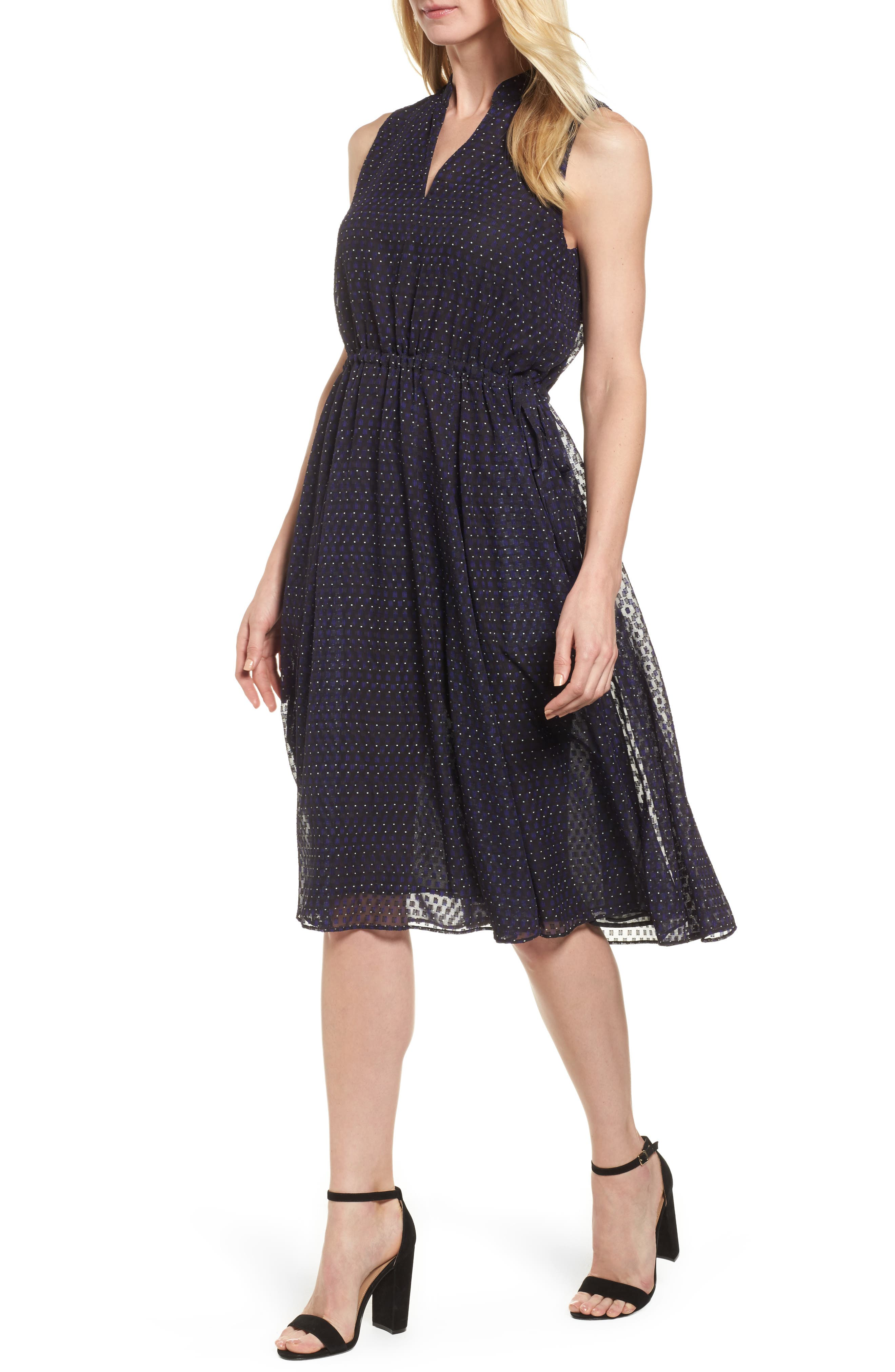 Print A-Line Dress,                             Main thumbnail 1, color,                             500