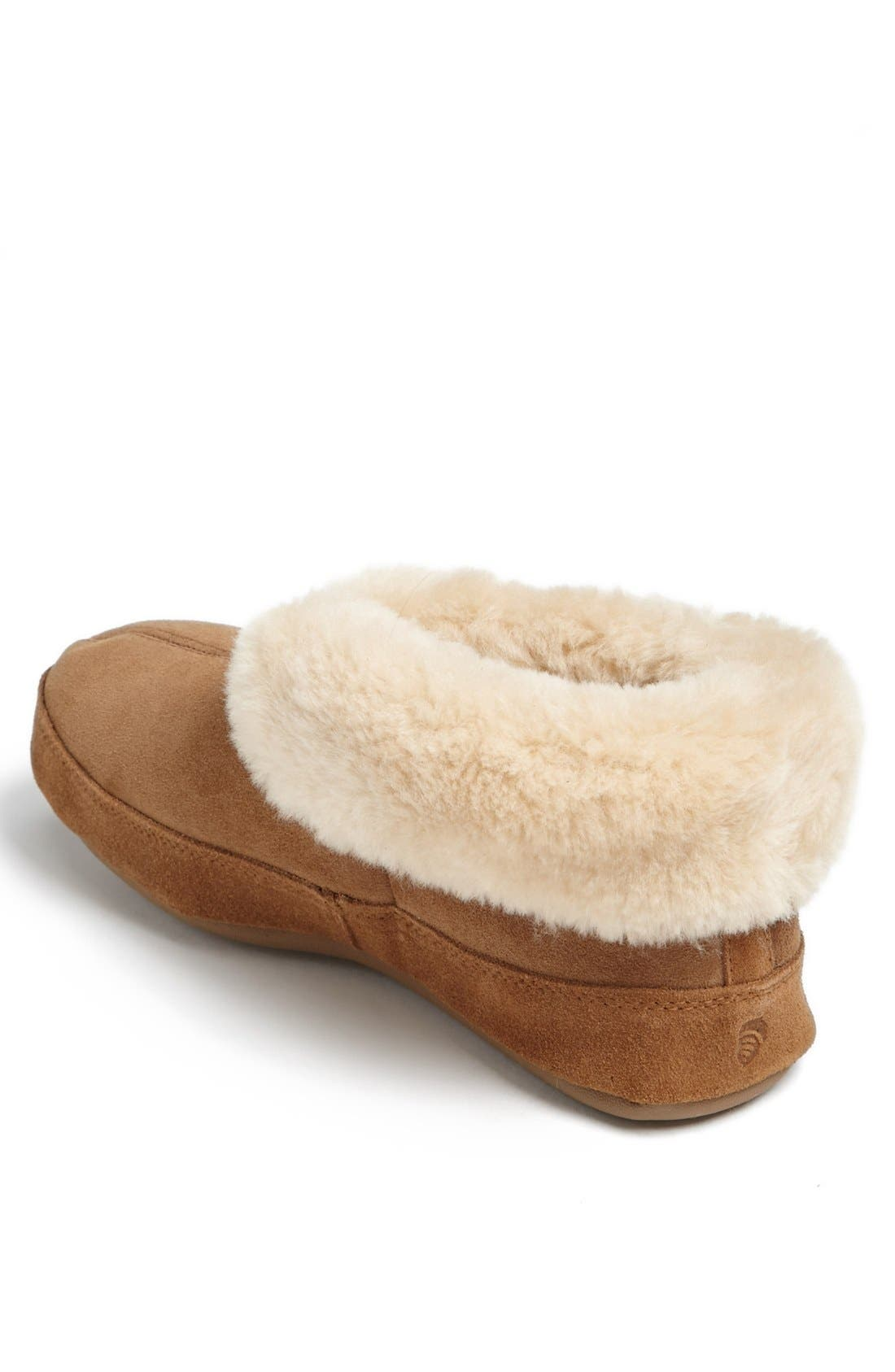 Genuine Sheepskin Slipper,                             Alternate thumbnail 3, color,                             WALNUT