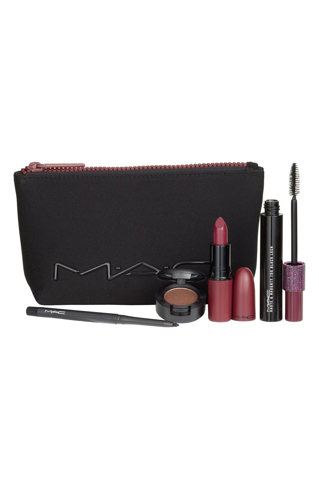 MAC 'Look in a Box - Sassy Siren' Burgundy Lip & Eye Kit,                             Main thumbnail 1, color,                             000