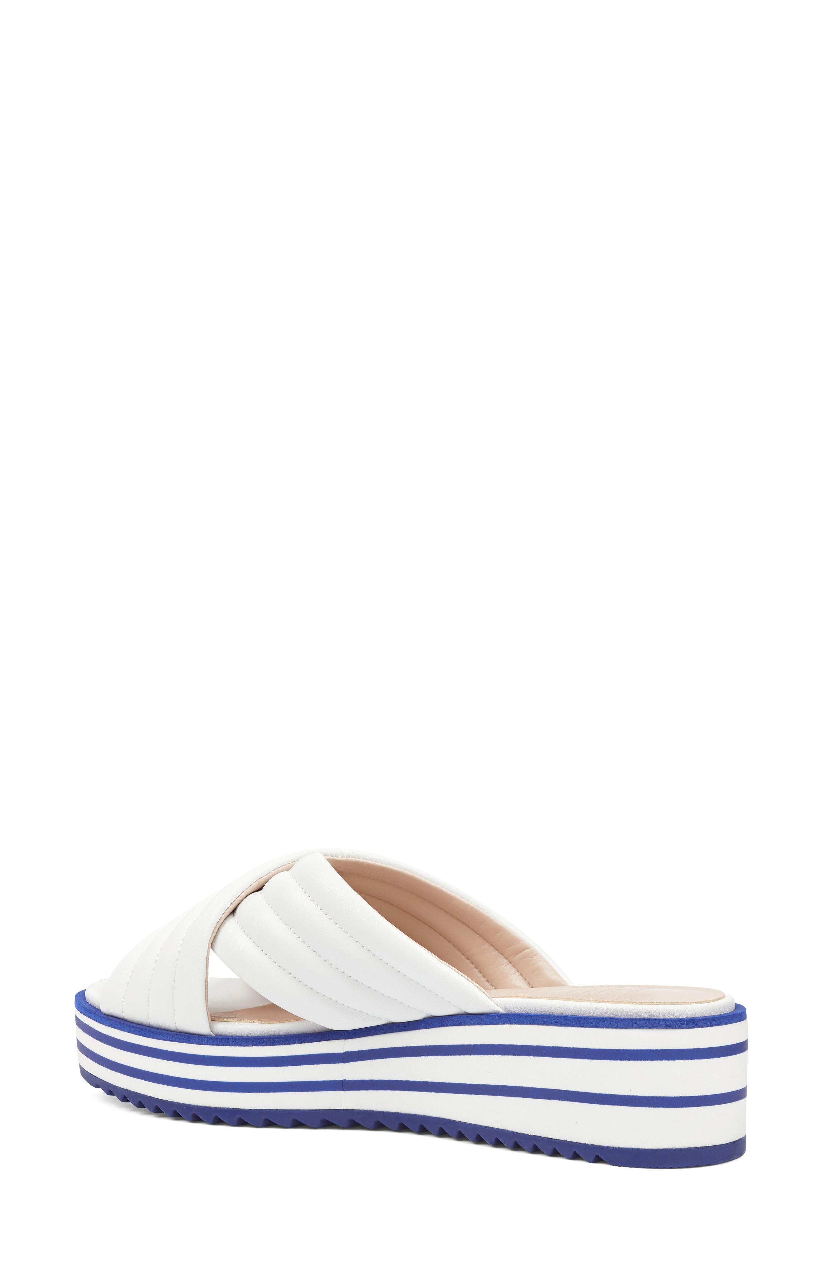 Zonita Platform Slide Sandal,                             Alternate thumbnail 6, color,