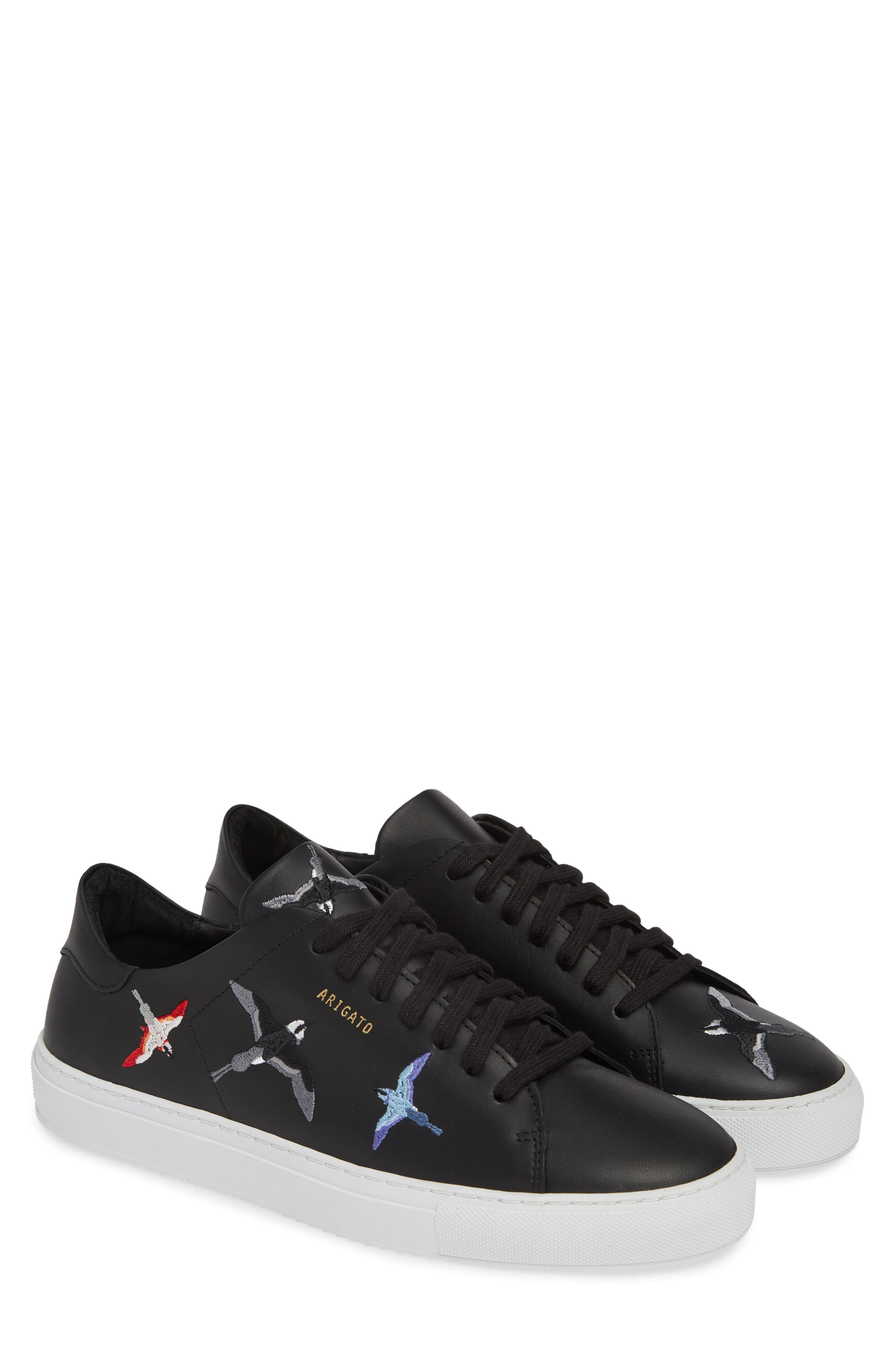 Clean 90 Sneaker,                             Alternate thumbnail 2, color,                             BLACK W/ BIRDS