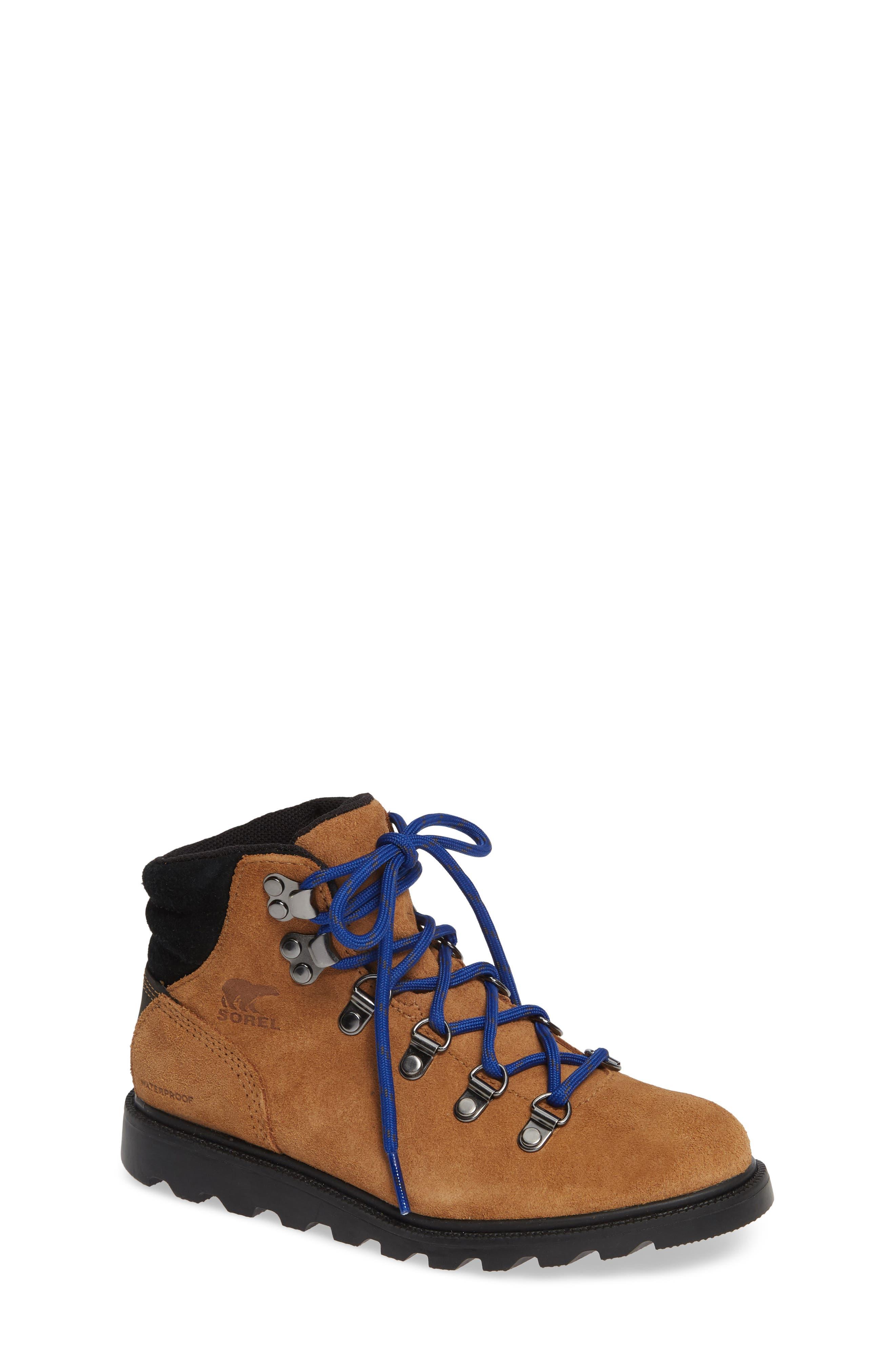 Madison Waterproof Hiker Boot,                         Main,                         color, CAMEL BROWN/ BLACK
