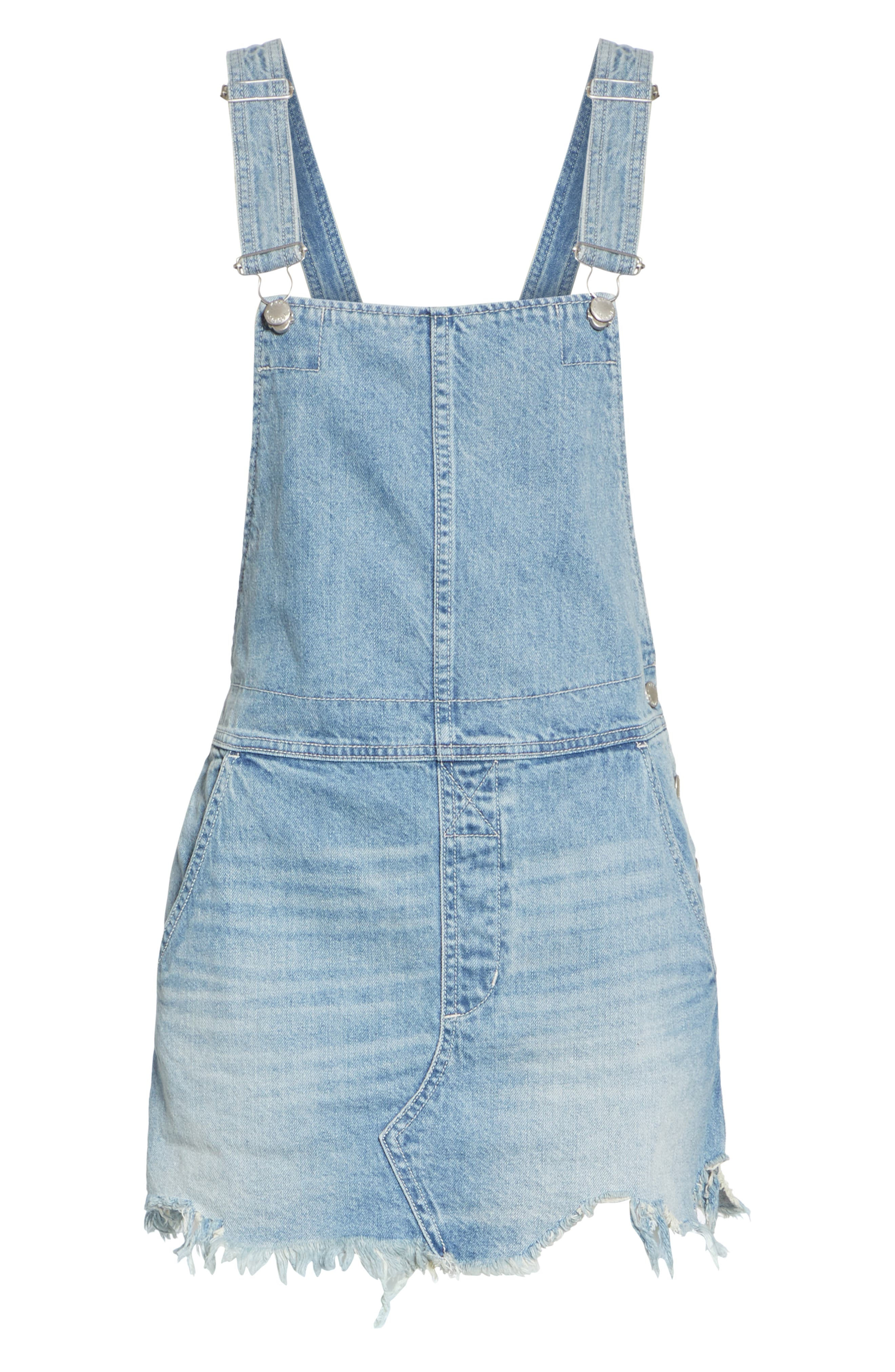 Torn-Up Skirt Overalls,                             Alternate thumbnail 6, color,                             400