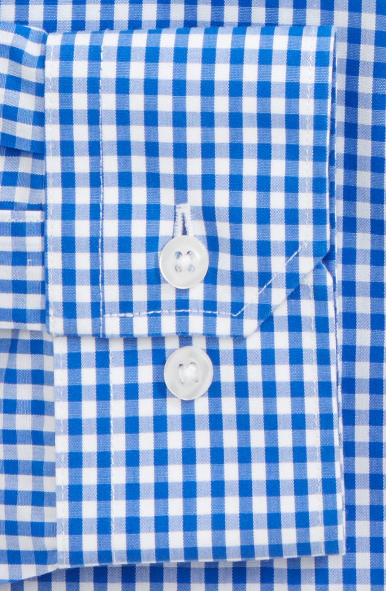 Trim Fit Check Dress Shirt,                             Alternate thumbnail 2, color,                             CLASSIC BLUE