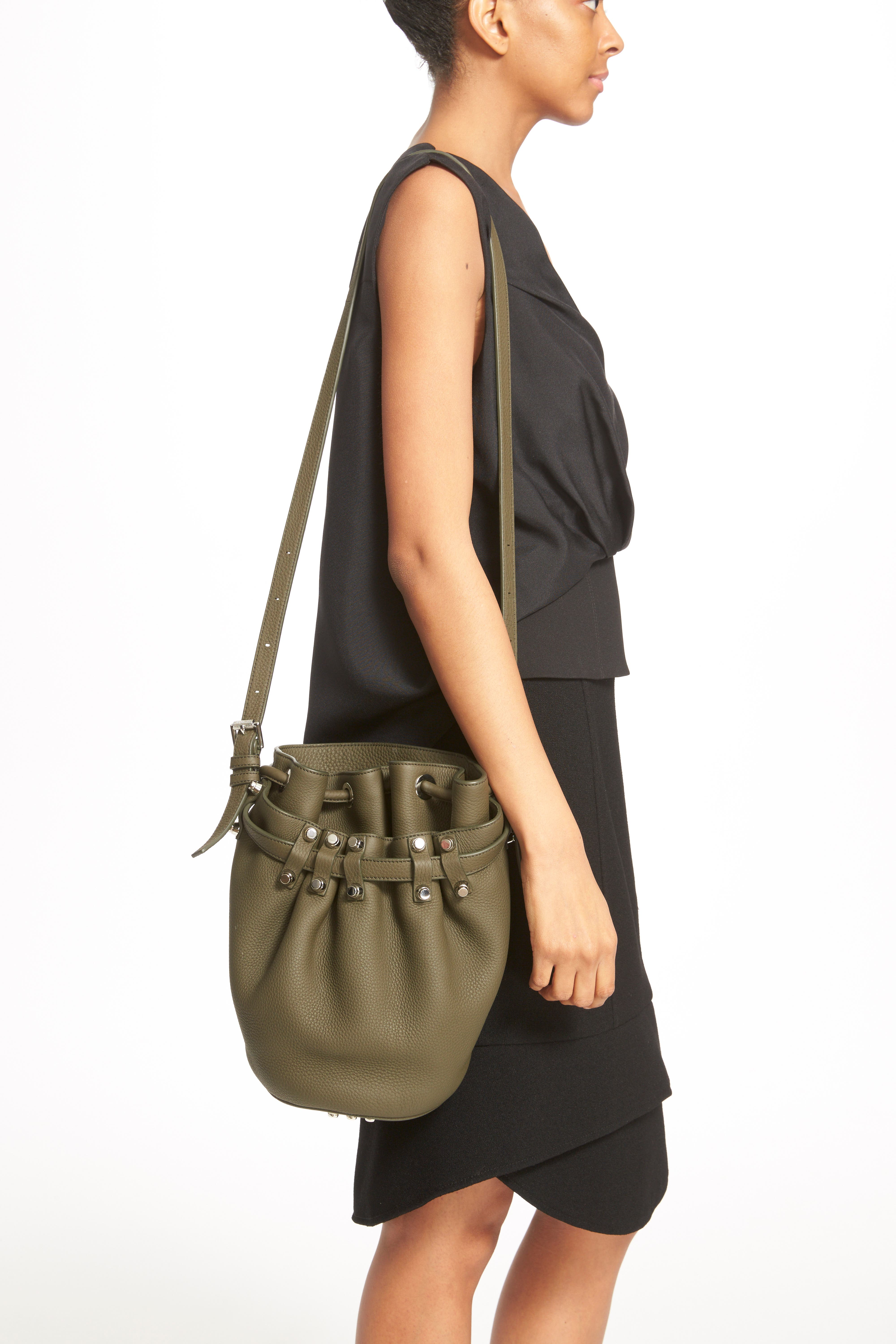 'Small Diego - Nickel' Leather Bucket Bag,                             Alternate thumbnail 6, color,                             342