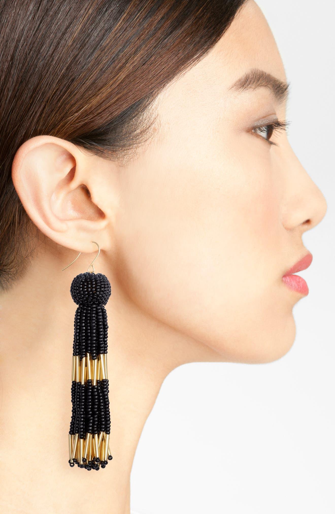 VANESSA MOONEY,                             Damzel Tassel Drop Earrings,                             Alternate thumbnail 2, color,                             001