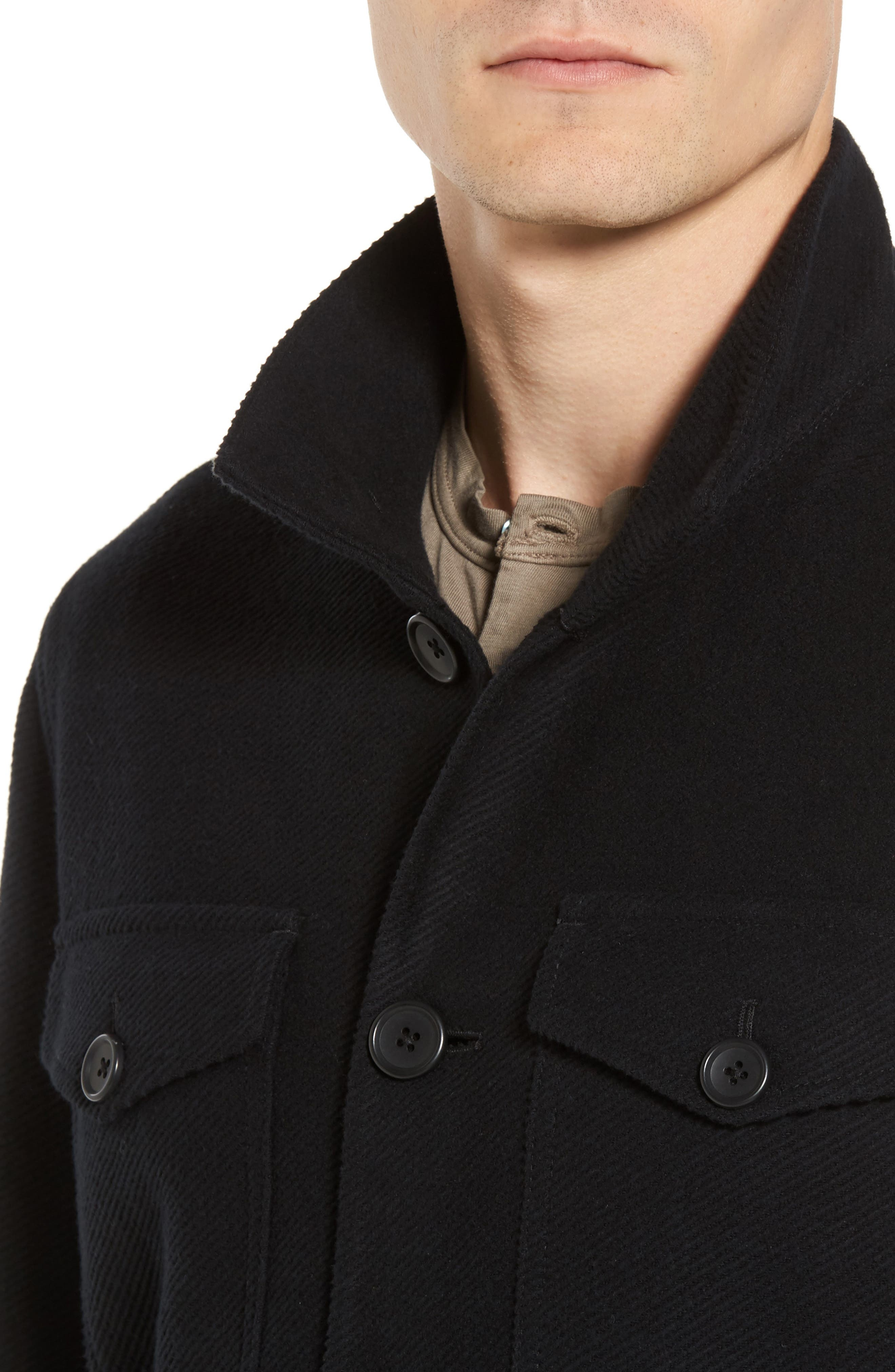 Drill Button Front Knit Jacket,                             Alternate thumbnail 7, color,