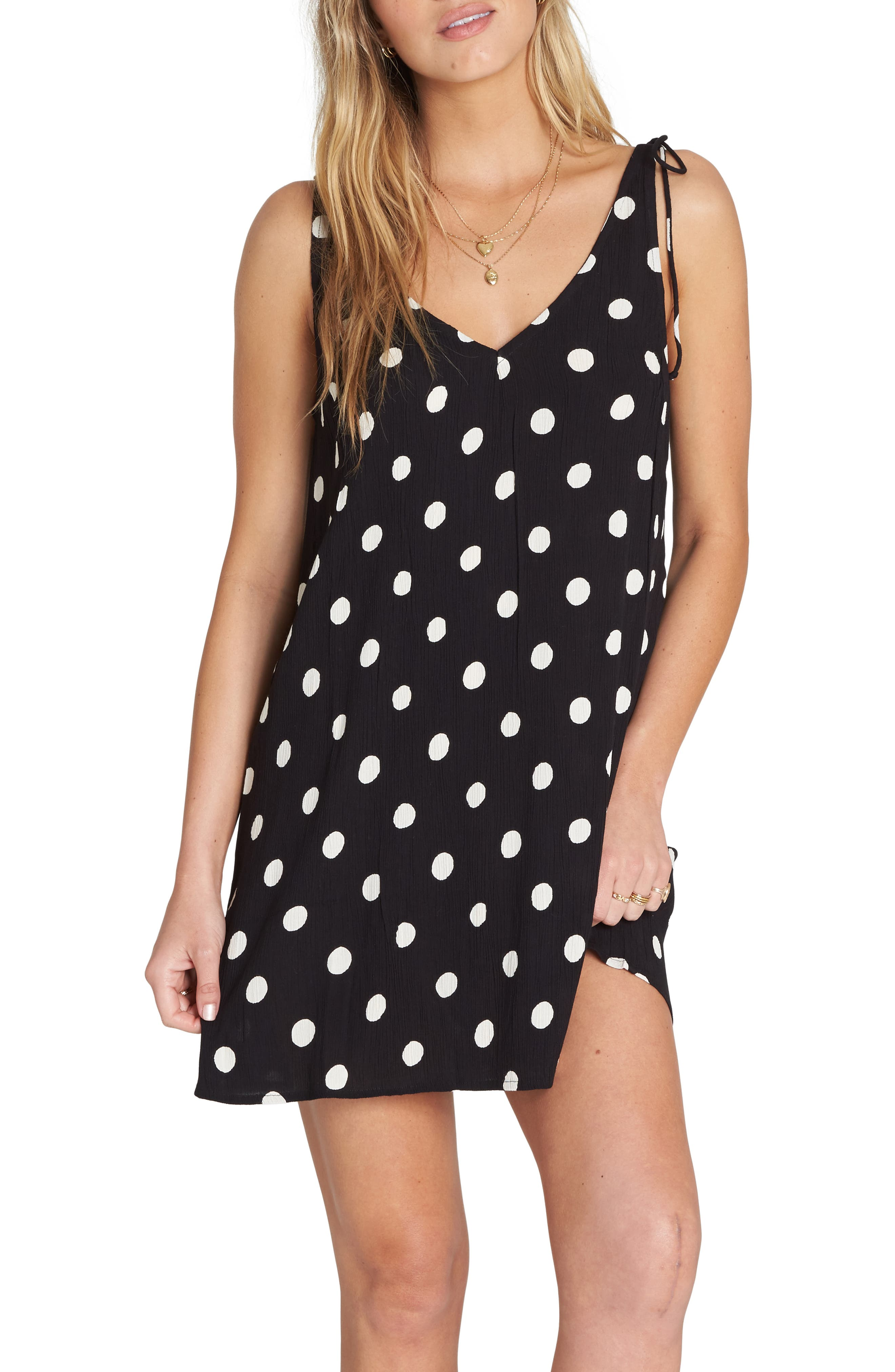 Billabong High Tide Print Shift Dress, Black