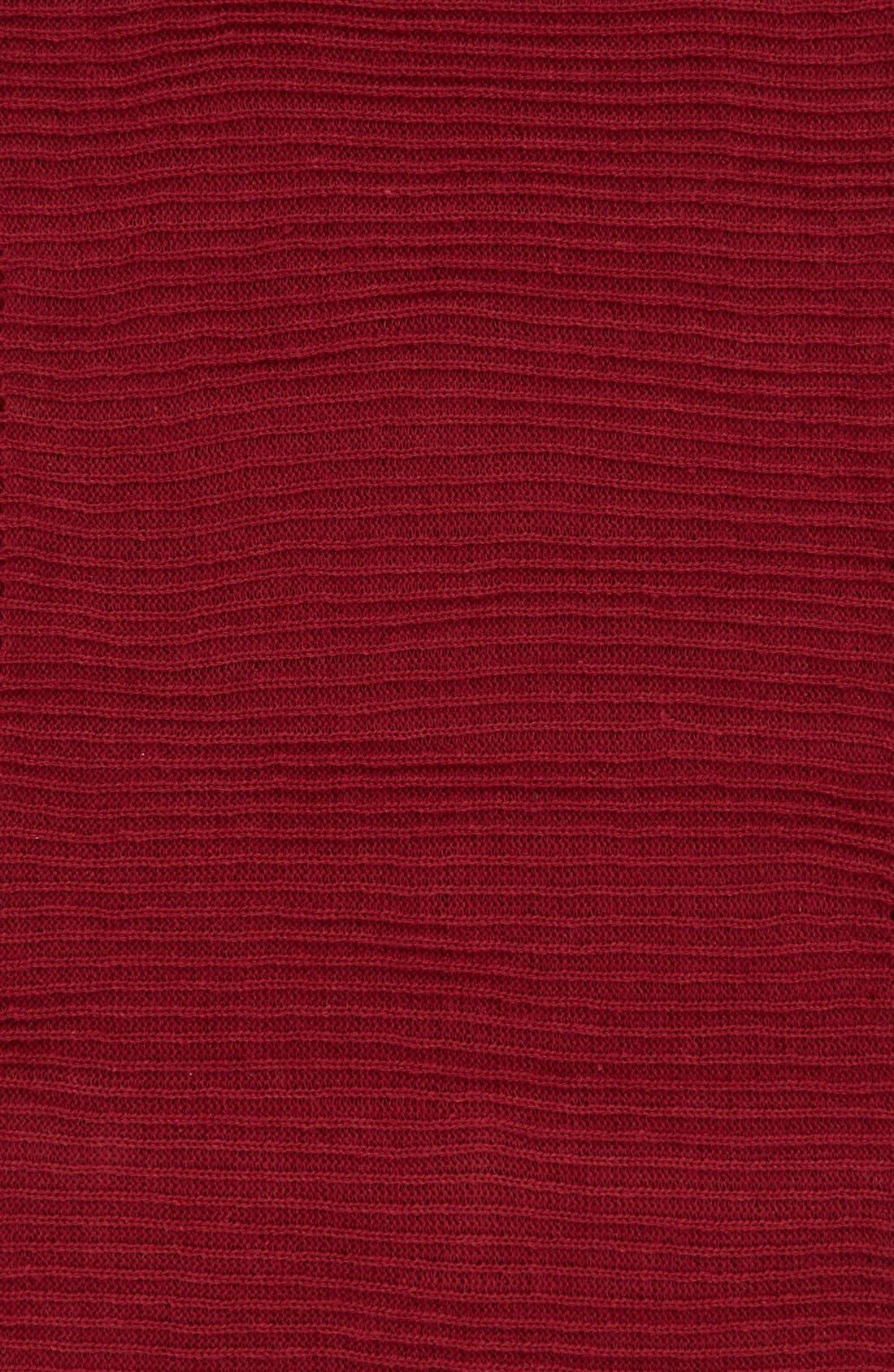 Rib Knit Fringe Infinity Scarf,                             Alternate thumbnail 12, color,