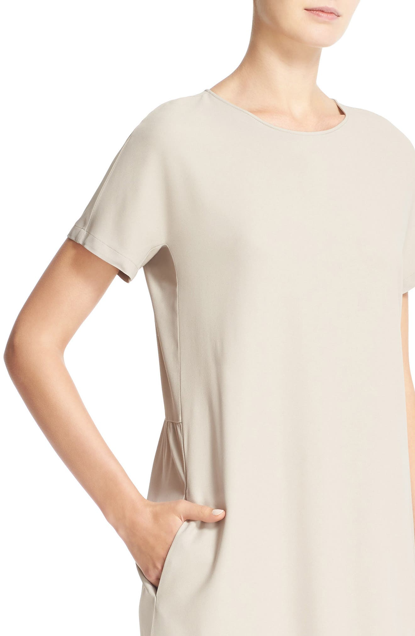 Stretch Cotton Poplin Dress,                             Alternate thumbnail 4, color,                             250