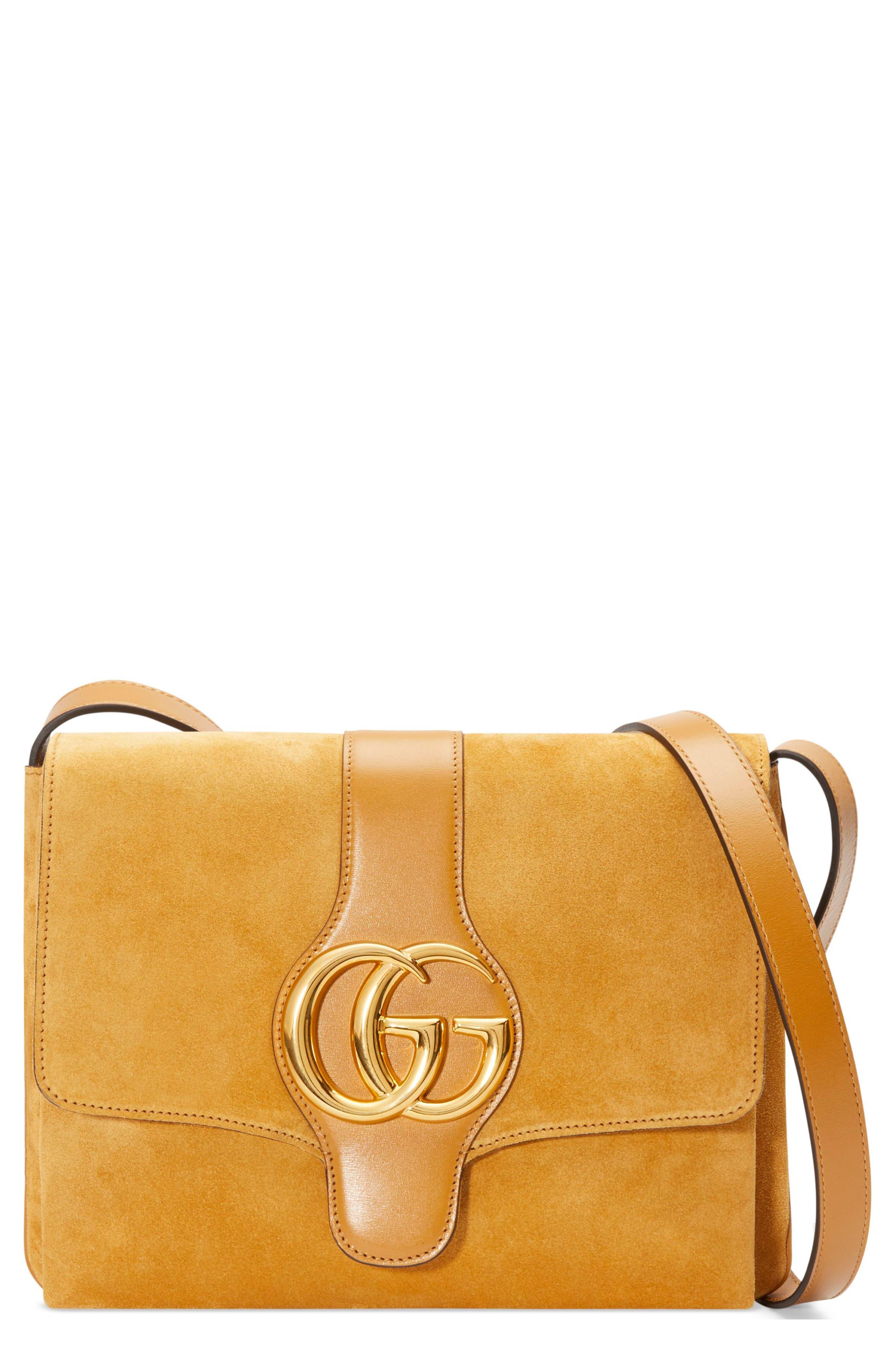 Medium Arli Shoulder Bag,                         Main,                         color, LIGHT COGNAC
