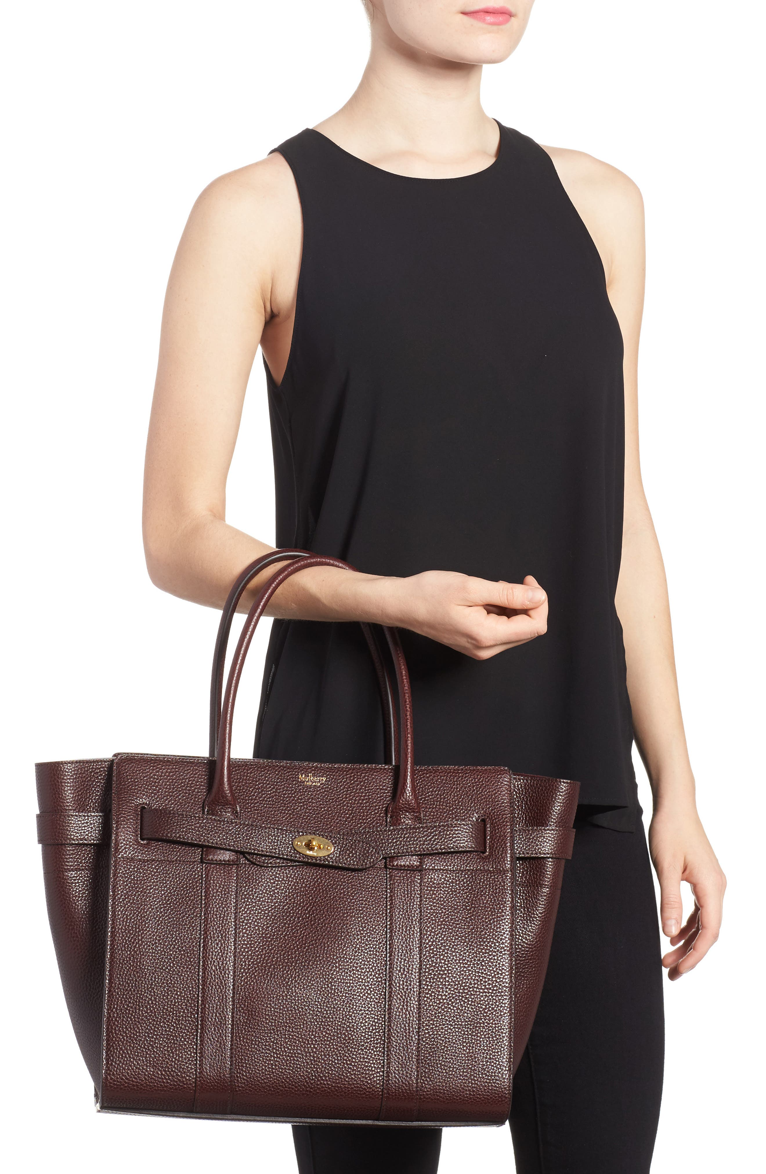 Large Bayswater Leather Tote,                             Alternate thumbnail 2, color,                             601
