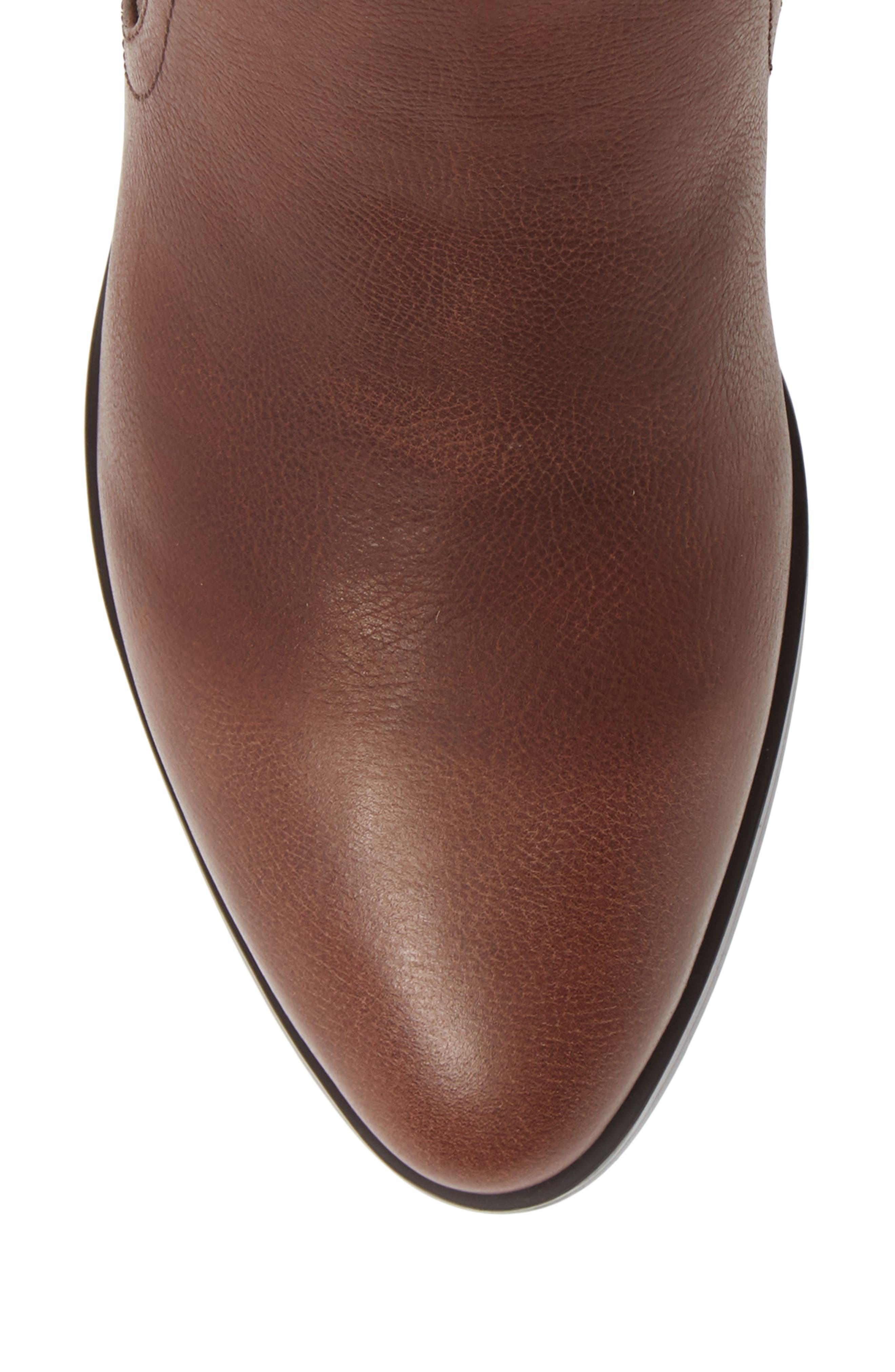 Maxie Chelsea Boot,                             Alternate thumbnail 5, color,                             LUGGAGE LEATHER