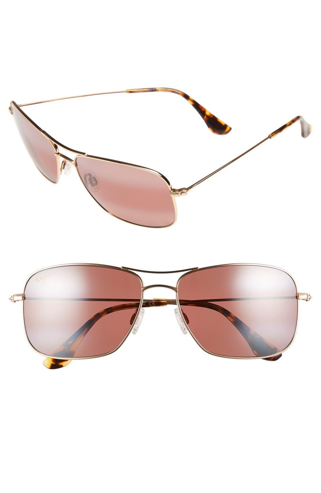 Wiki Wiki 59mm PolarizedPlus2<sup>®</sup> Sunglasses,                             Main thumbnail 1, color,                             GOLD/ MAUI ROSE