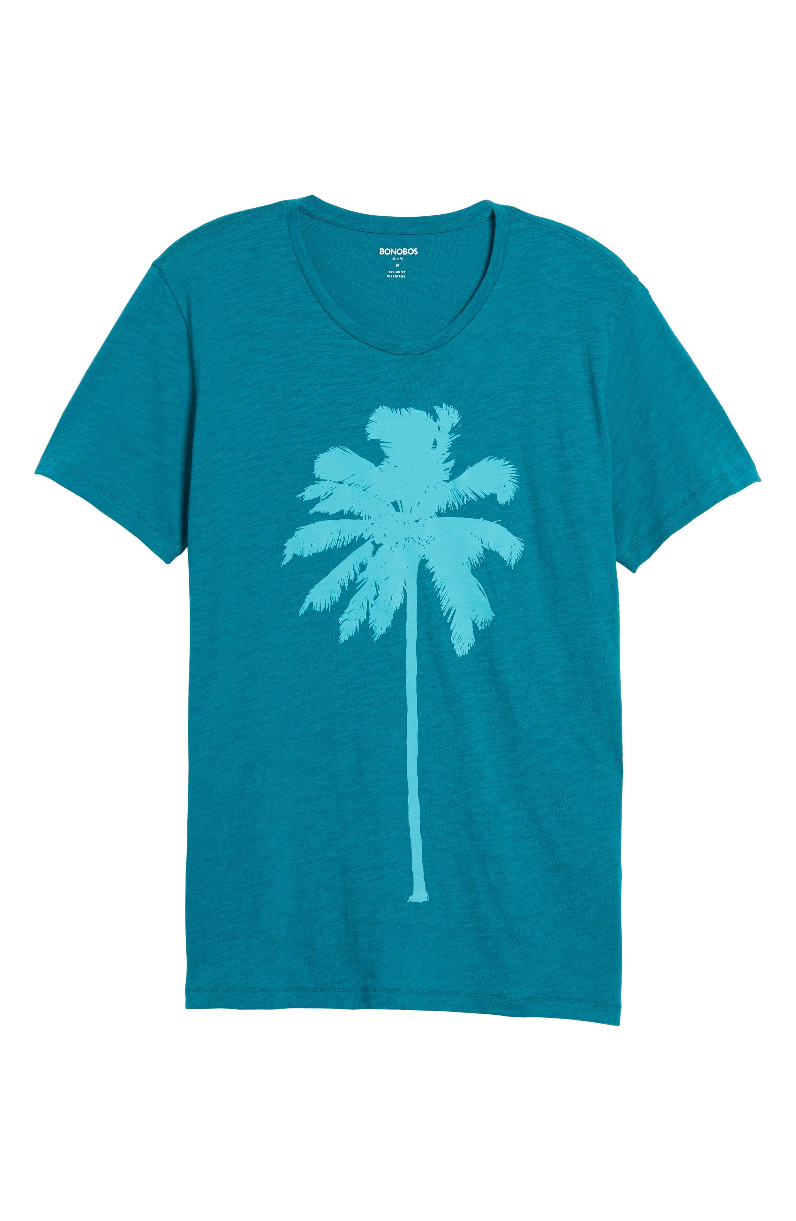 Palm Print T-Shirt,                             Alternate thumbnail 6, color,                             300