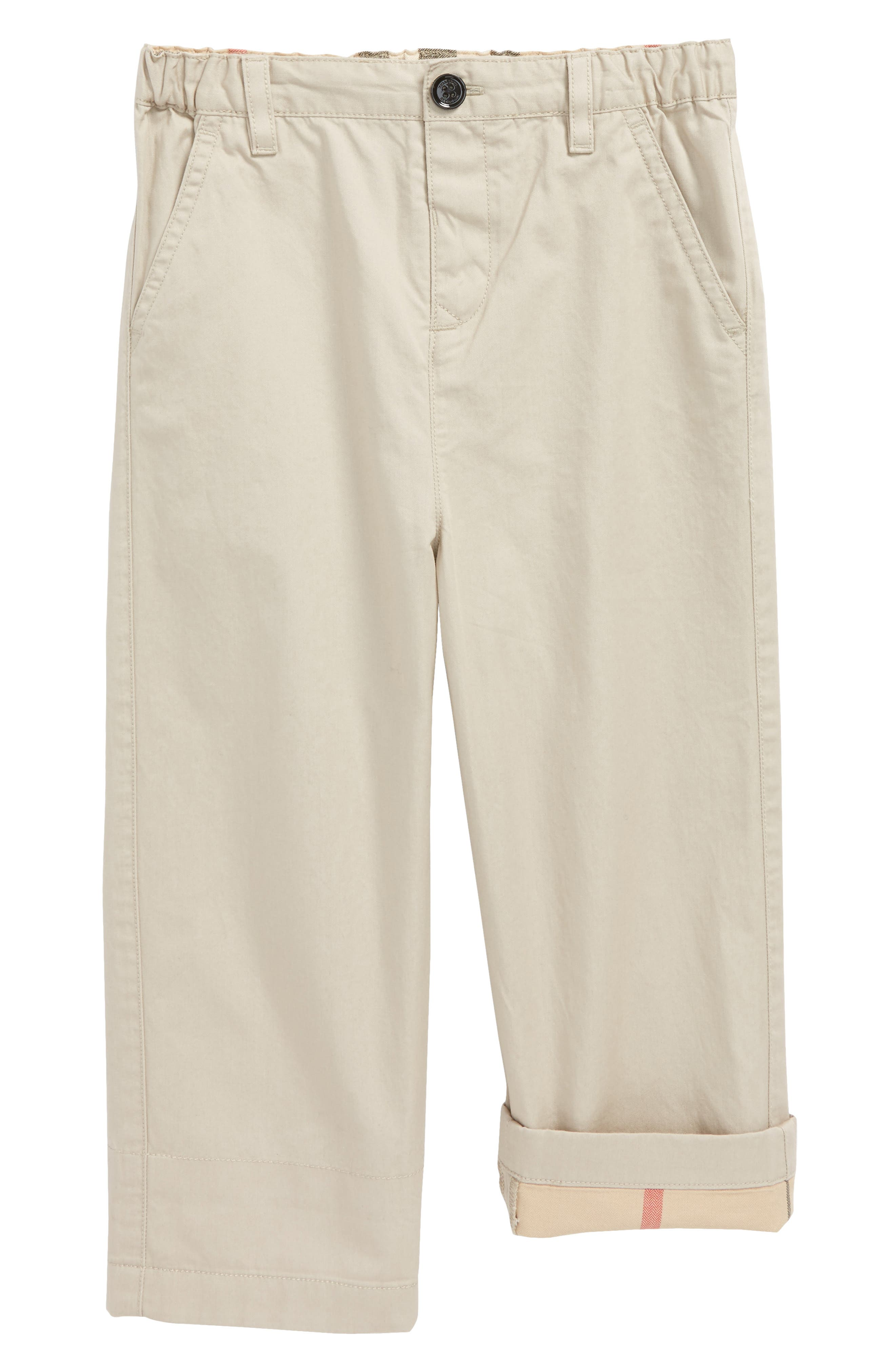 Ricky Check Lined Pants,                         Main,                         color, GREY STONE