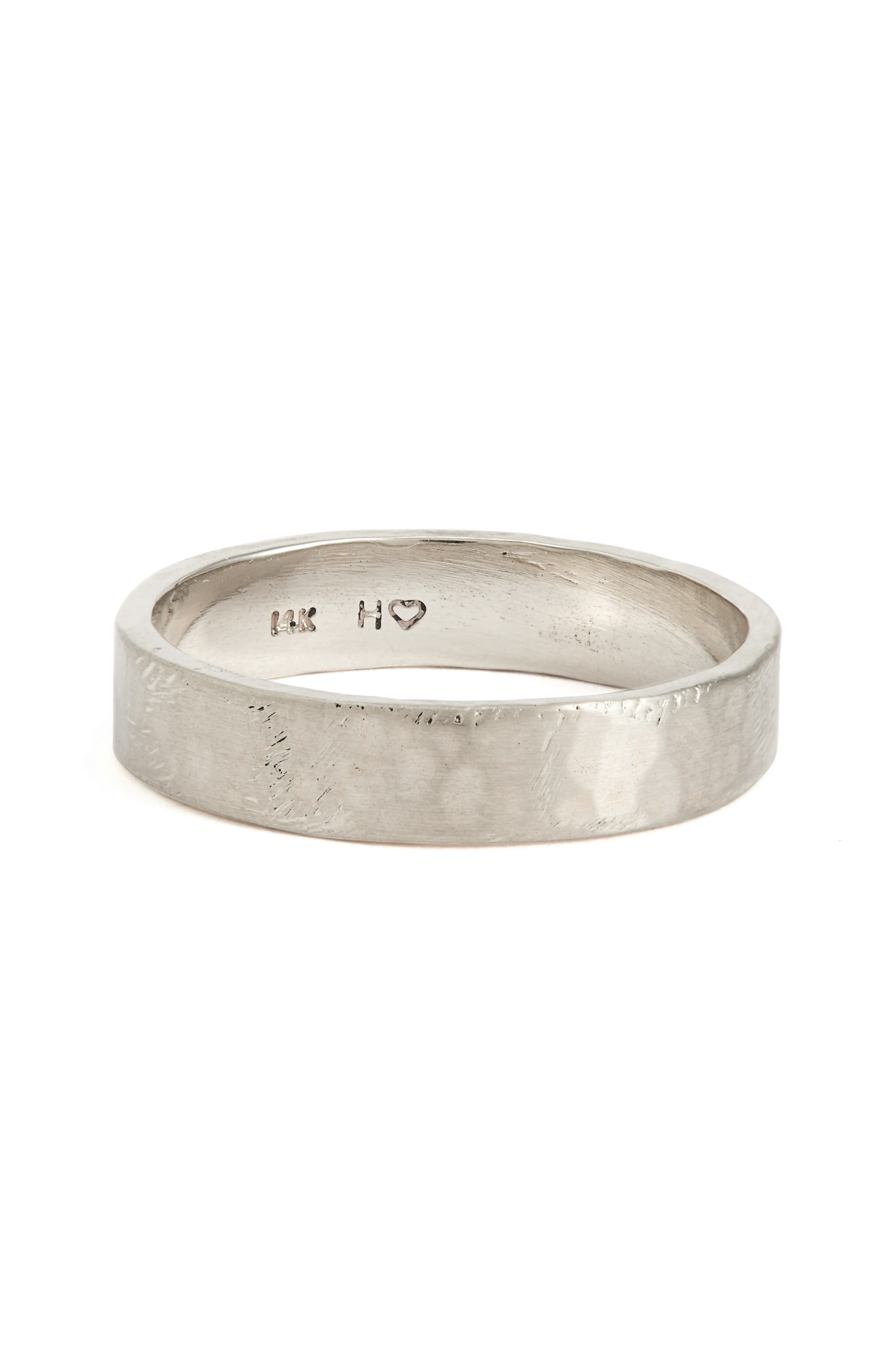 Harmony<sup>®</sup> Flat Classic Hammered Band Ring,                             Alternate thumbnail 3, color,