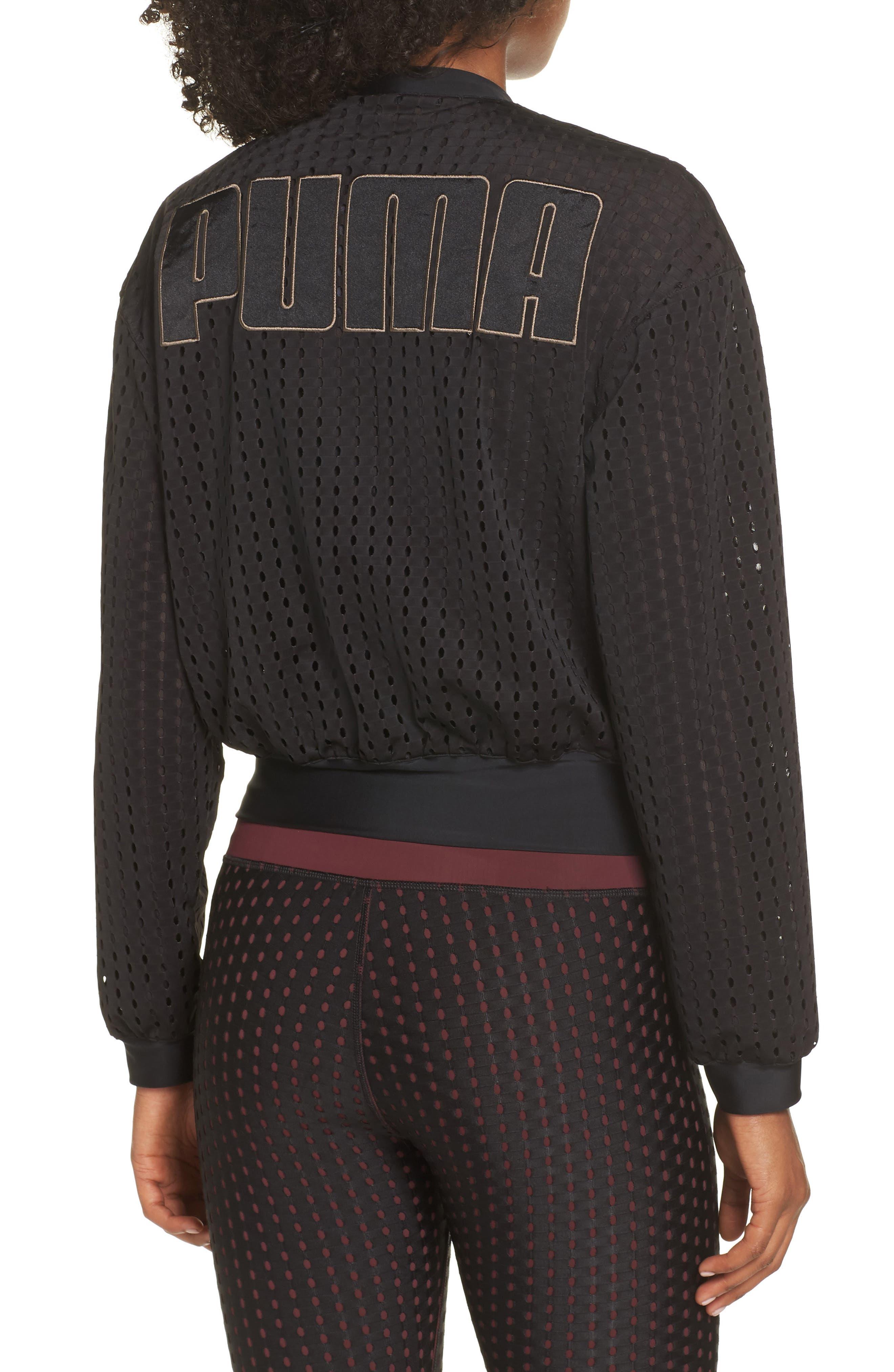 Luxe Jacket,                             Alternate thumbnail 2, color,                             PUMA BLACK